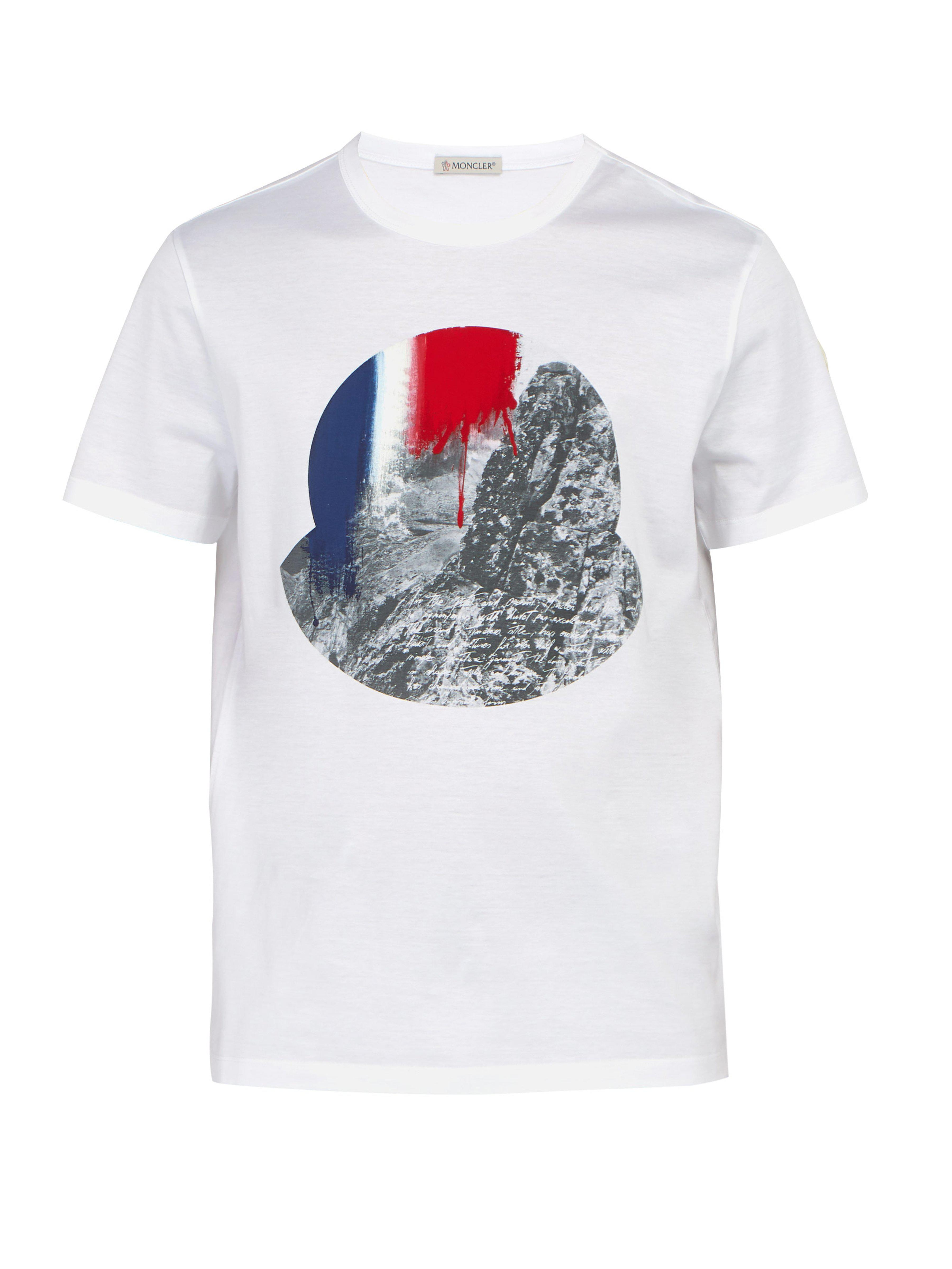 3e3e9c3a5 Moncler T-shirt in White for Men - Lyst