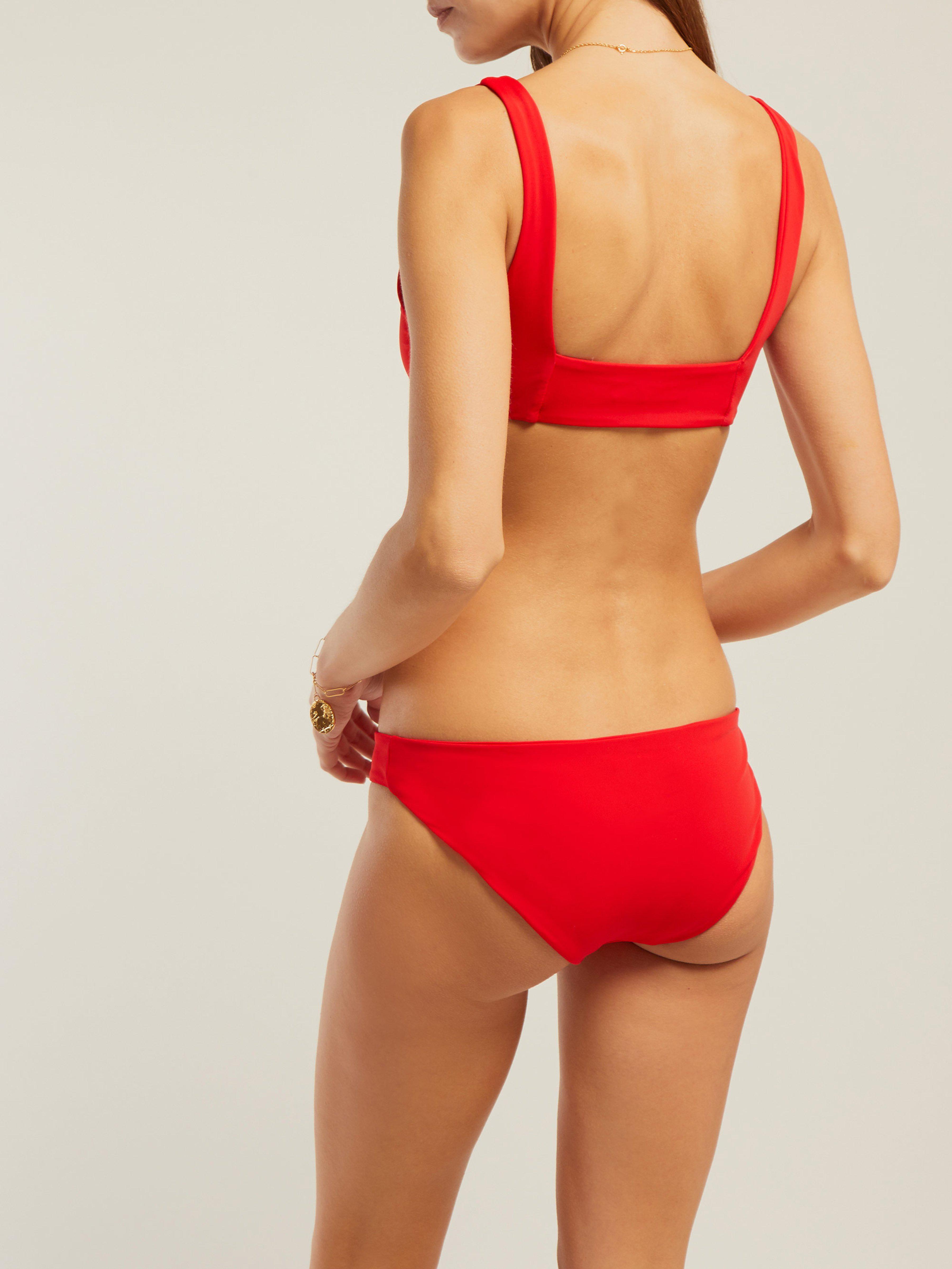 9529b5bb61 Mara Hoffman - Red Zoa Low Rise Bikini Briefs - Lyst. View fullscreen