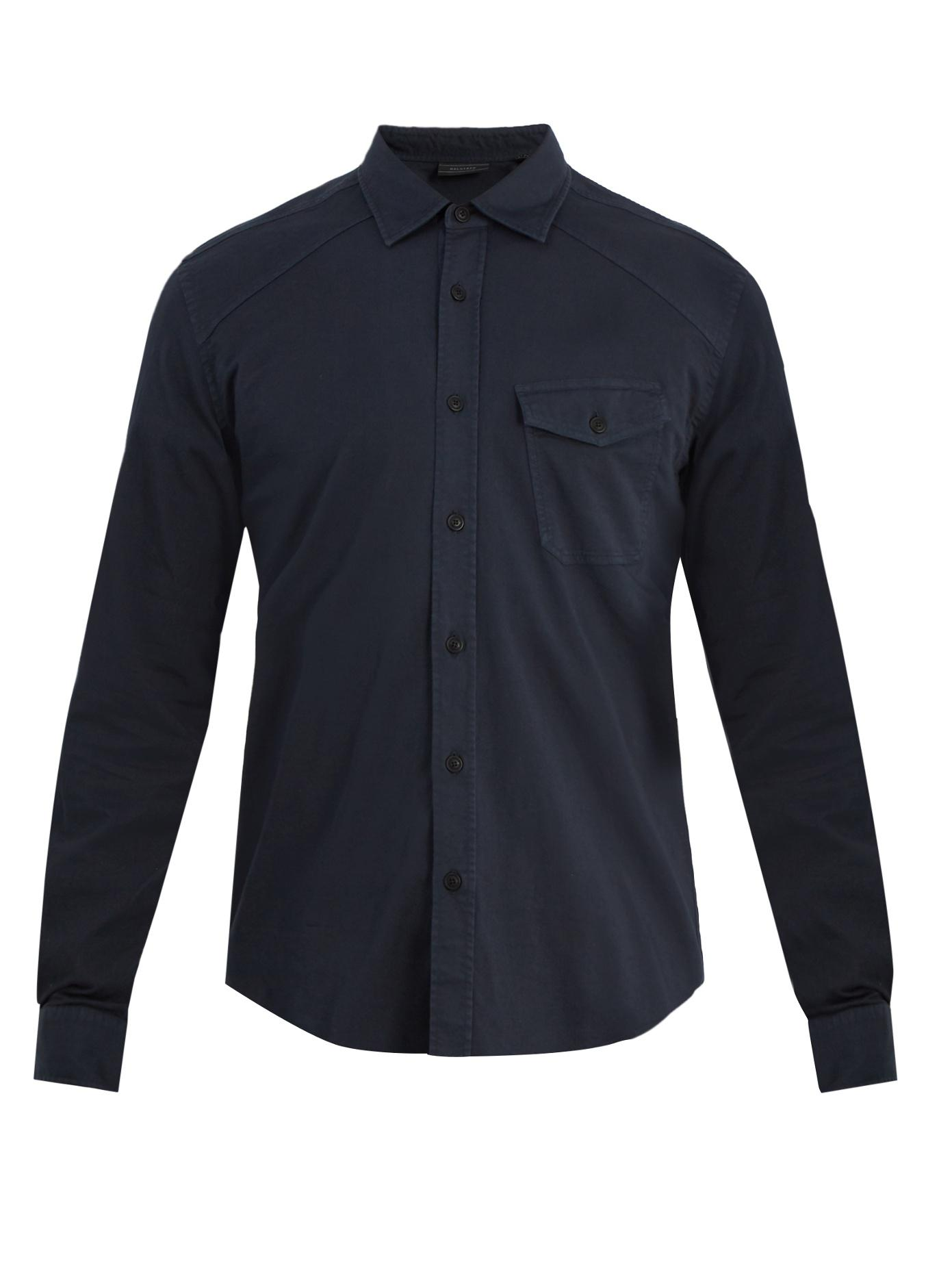 Outlet 100% Authentic Steadway Stretch-cotton Shirt Belstaff Largest Supplier Online How Much lvPBsR9
