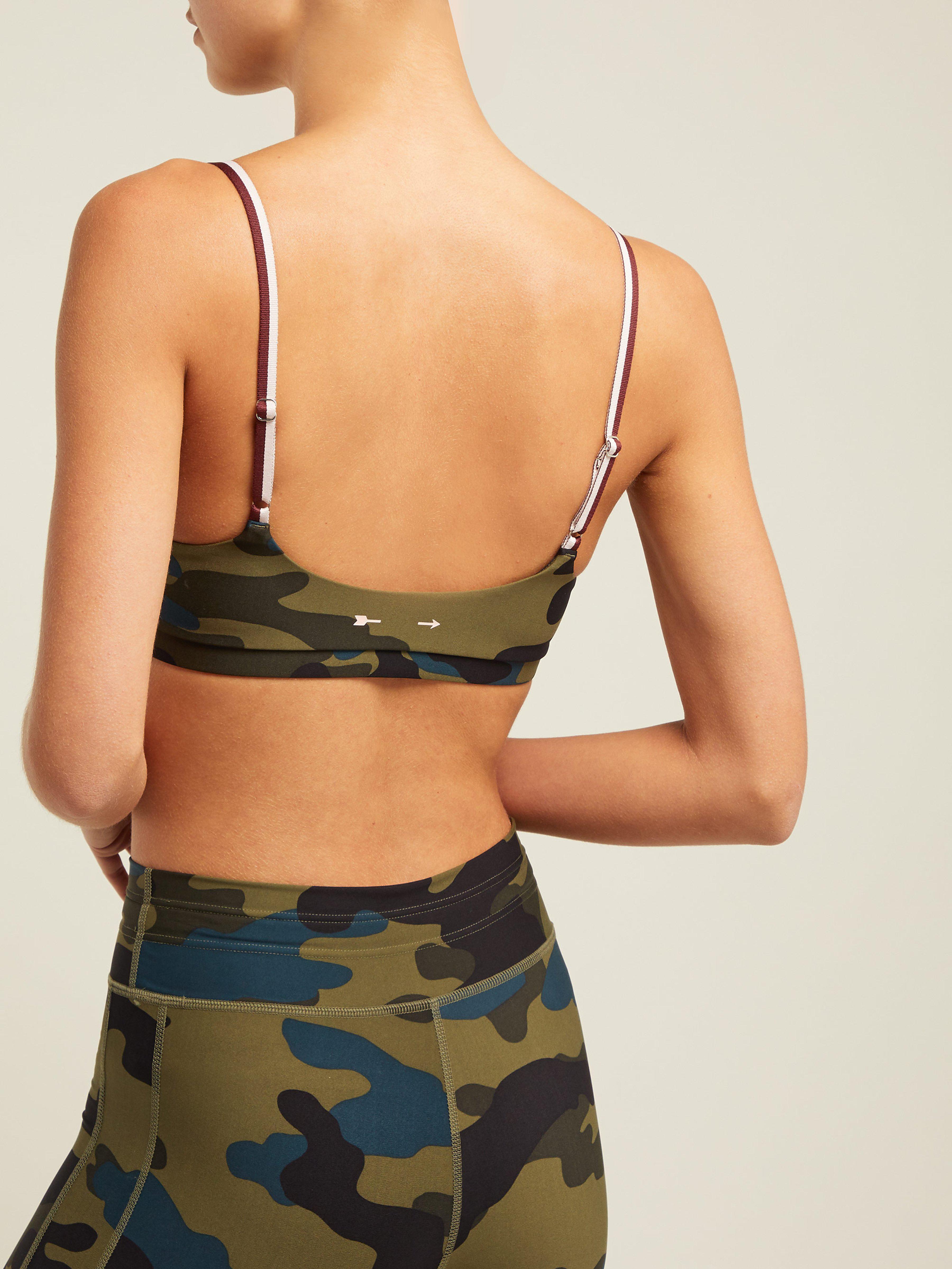 4c32f88e8e The Upside - Multicolor Army Camouflage Print Sports Bra - Lyst. View  fullscreen