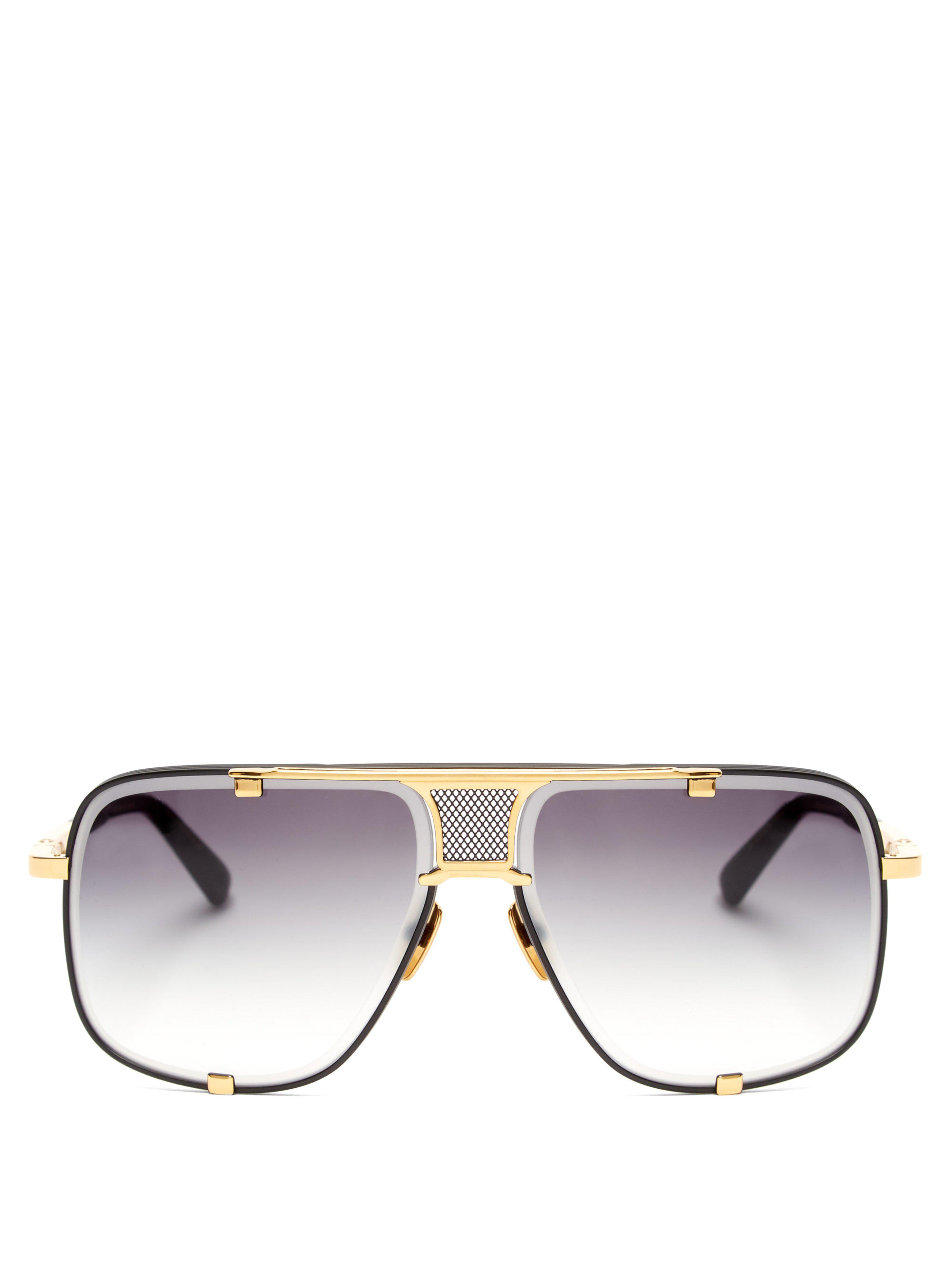 a6773e870851 Dita Eyewear Mach Five Aviator Sunglasses in Black for Men - Lyst