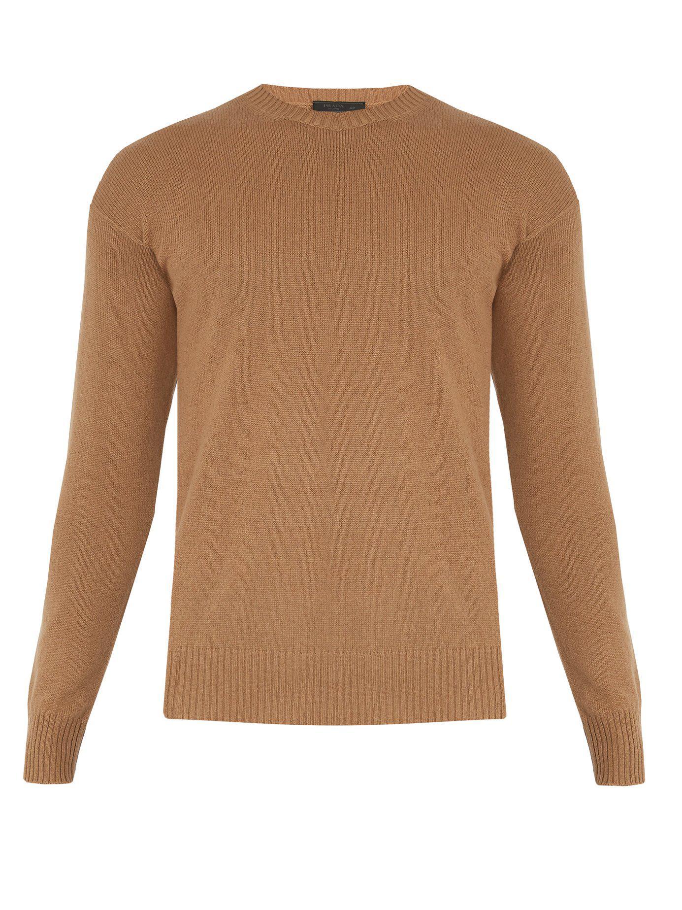 117df1a2cf1a Lyst - Pull col ras du cou en laine et soie Prada pour homme en ...
