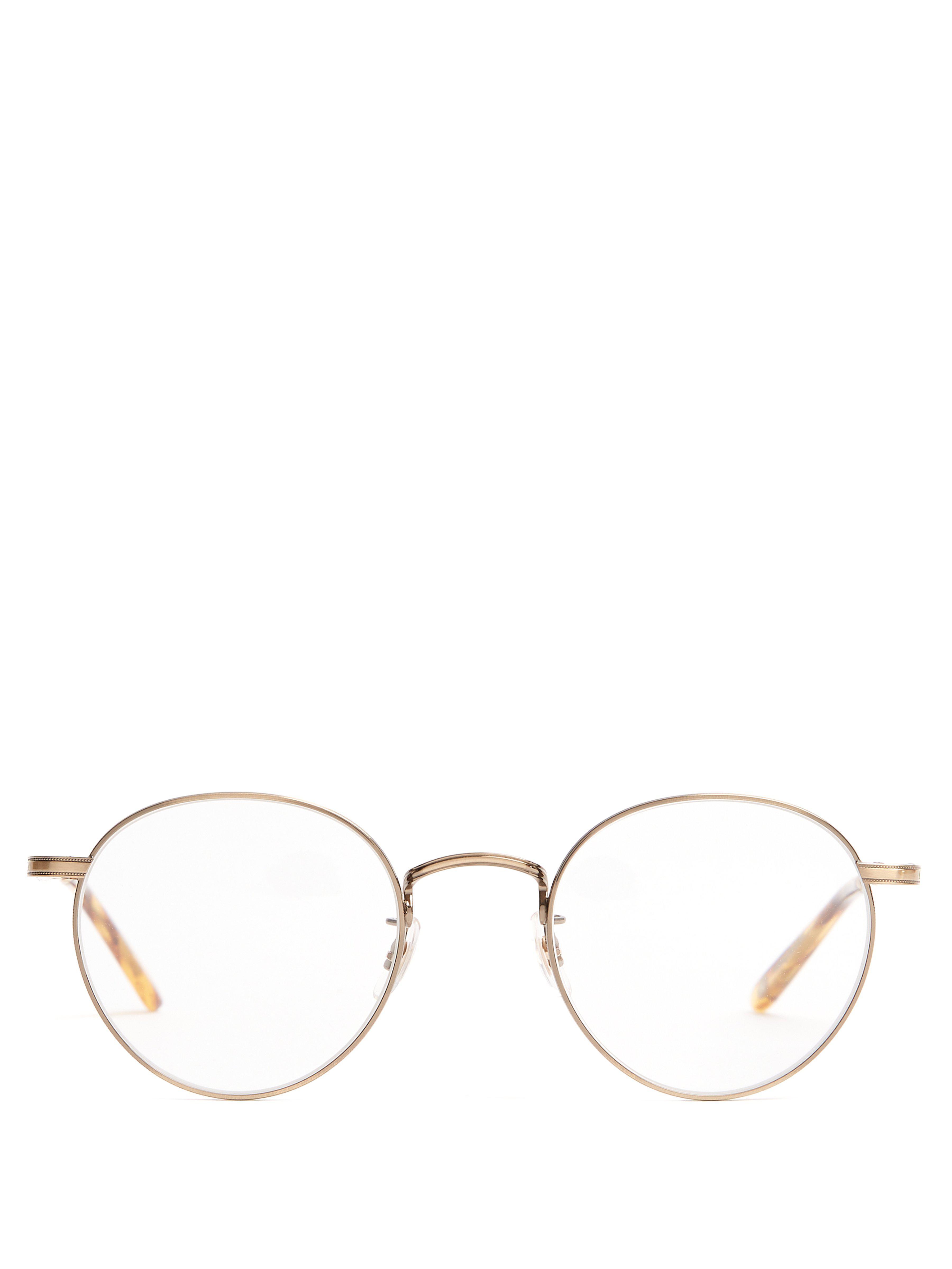 60c484e56d Garrett Leight Wilson 49 Round Frame Glasses in Metallic for Men - Lyst