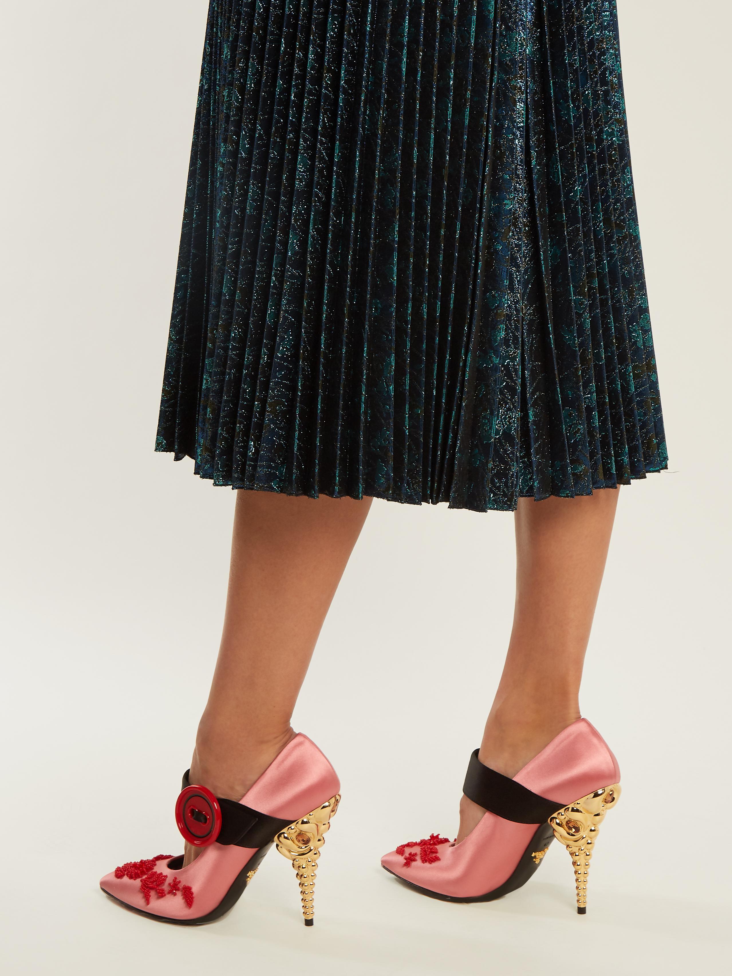 Embellished Satin Sandals - Pink Prada Ow7tMFriao