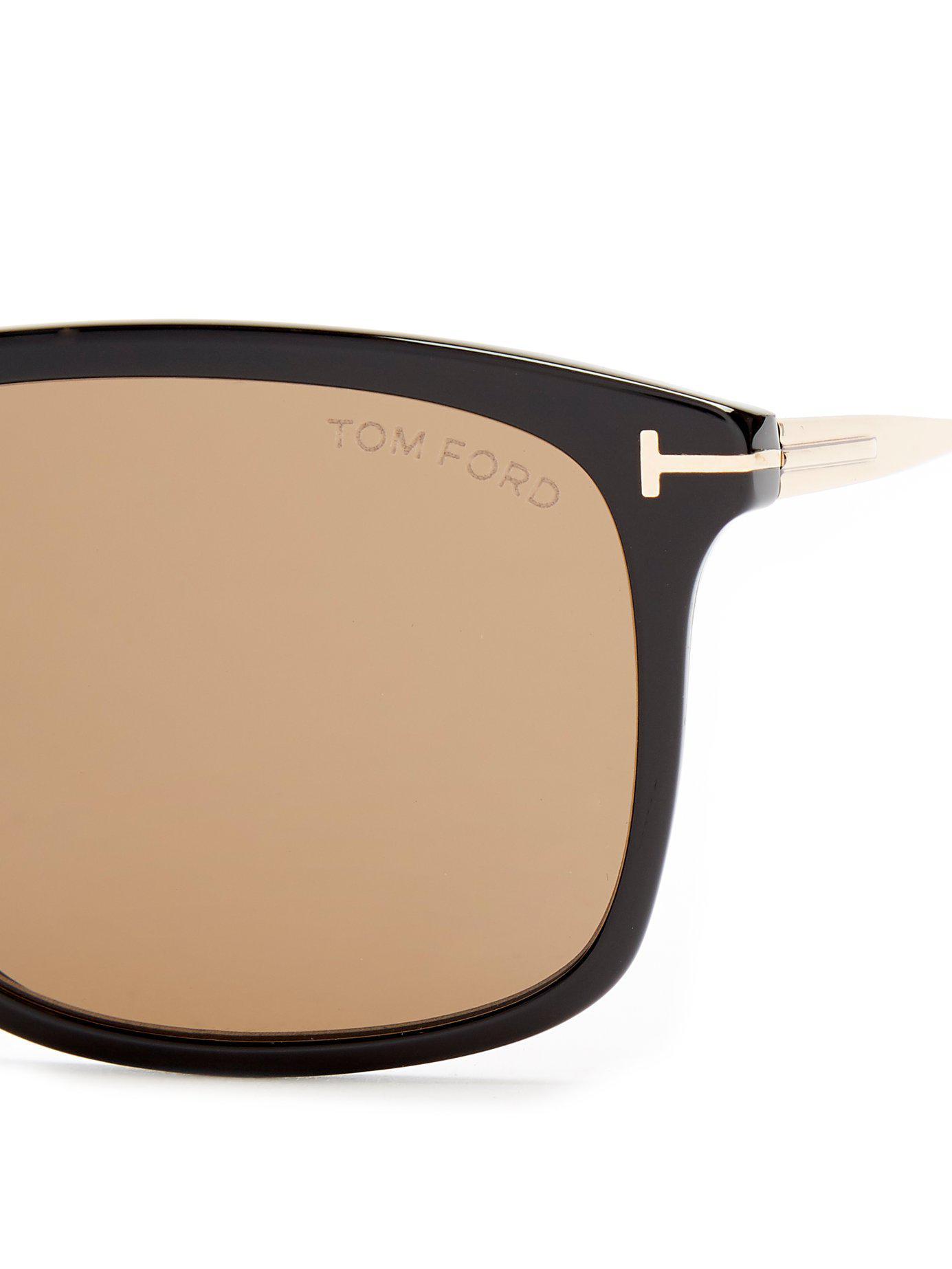 ae38cf88e35 Tom Ford - Black Eric Rectangle Frame Sunglasses for Men - Lyst. View  fullscreen