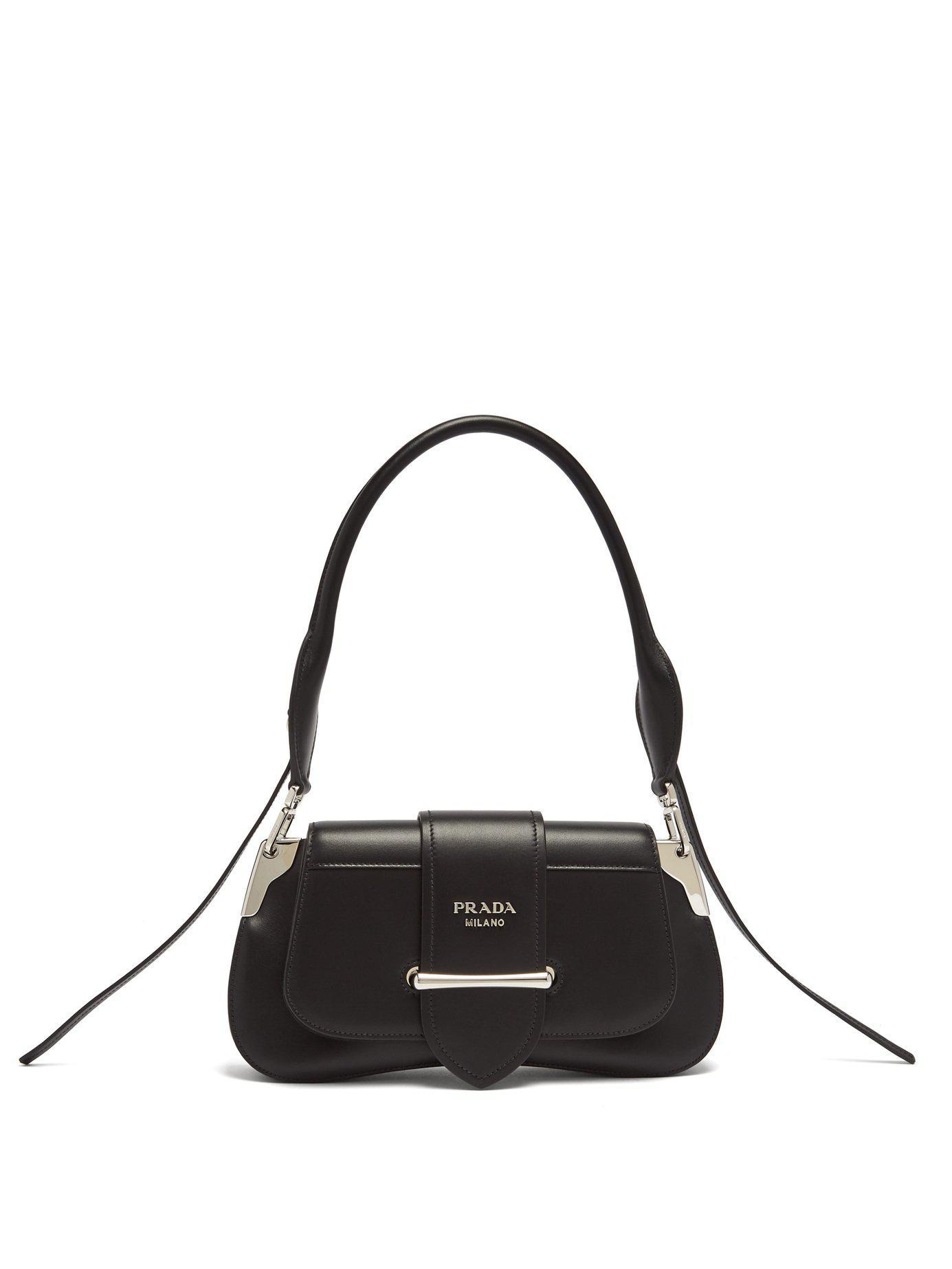 7a8e3ec7bec21f Prada Sidonie Leather Shoulder Bag in Black - Lyst