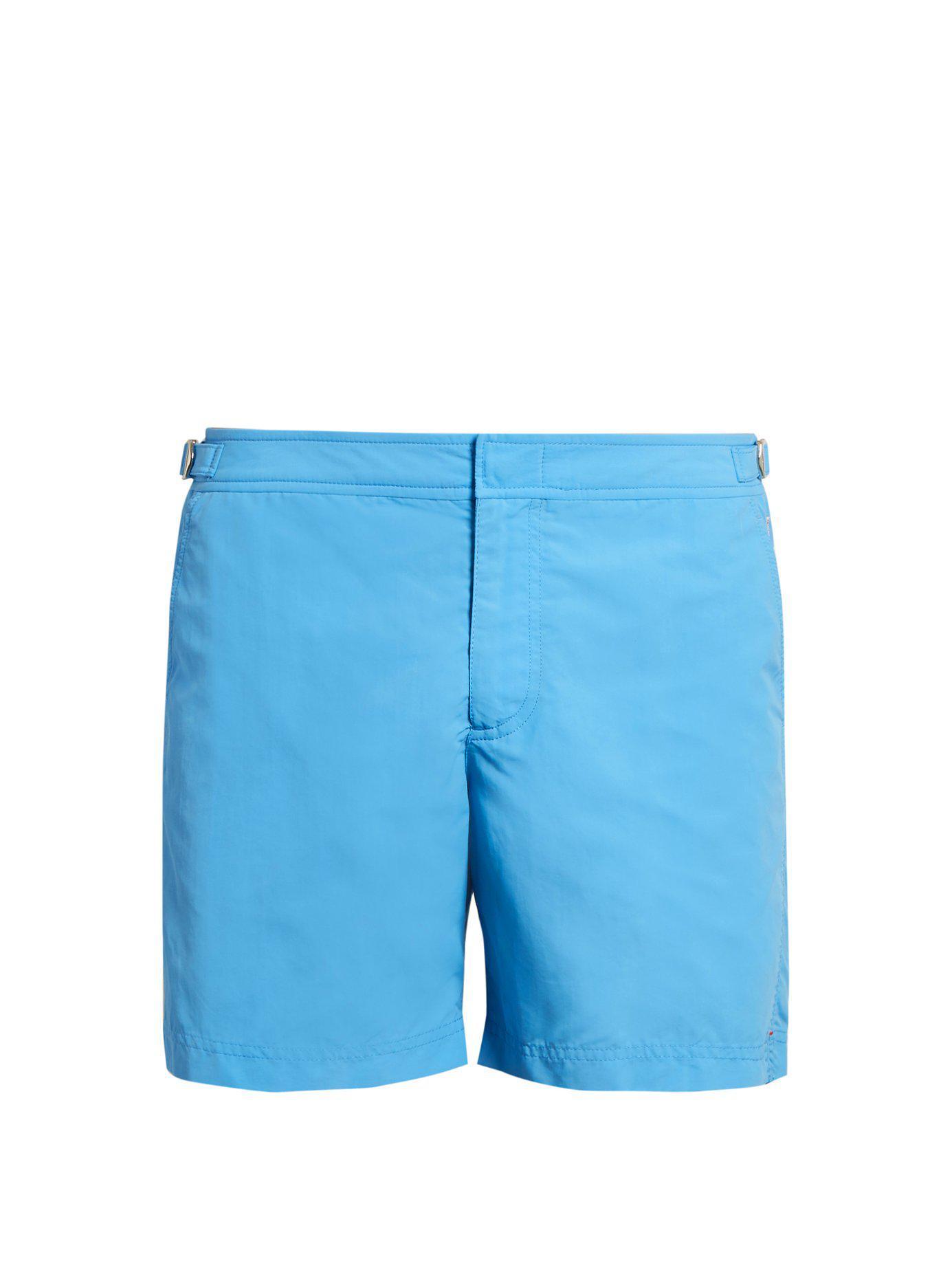 6e45fa834f9 Lyst - Orlebar Brown Bulldog Mid Length Swim Shorts in Blue for Men