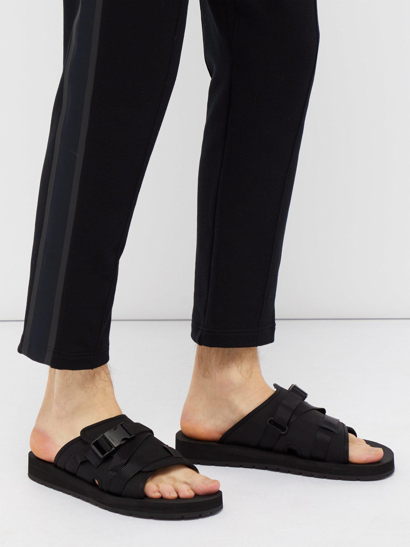 cb65962e0db4 Lyst - Prada Buckle Open-toe Sandals in Black for Men - Save 48%