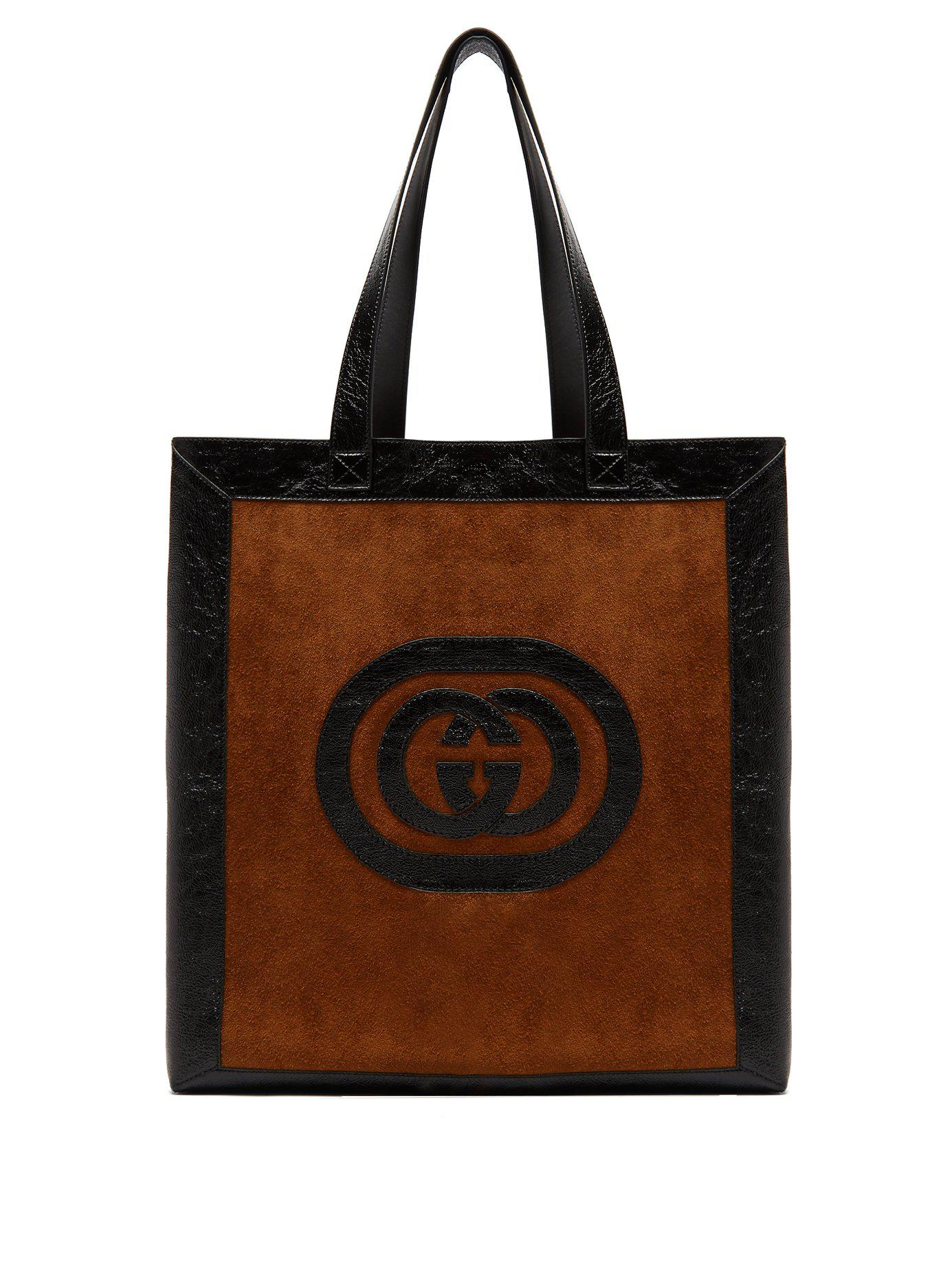 b00f1f11d07 Lyst - Gucci Ophidia Medium Suede Tote in Brown