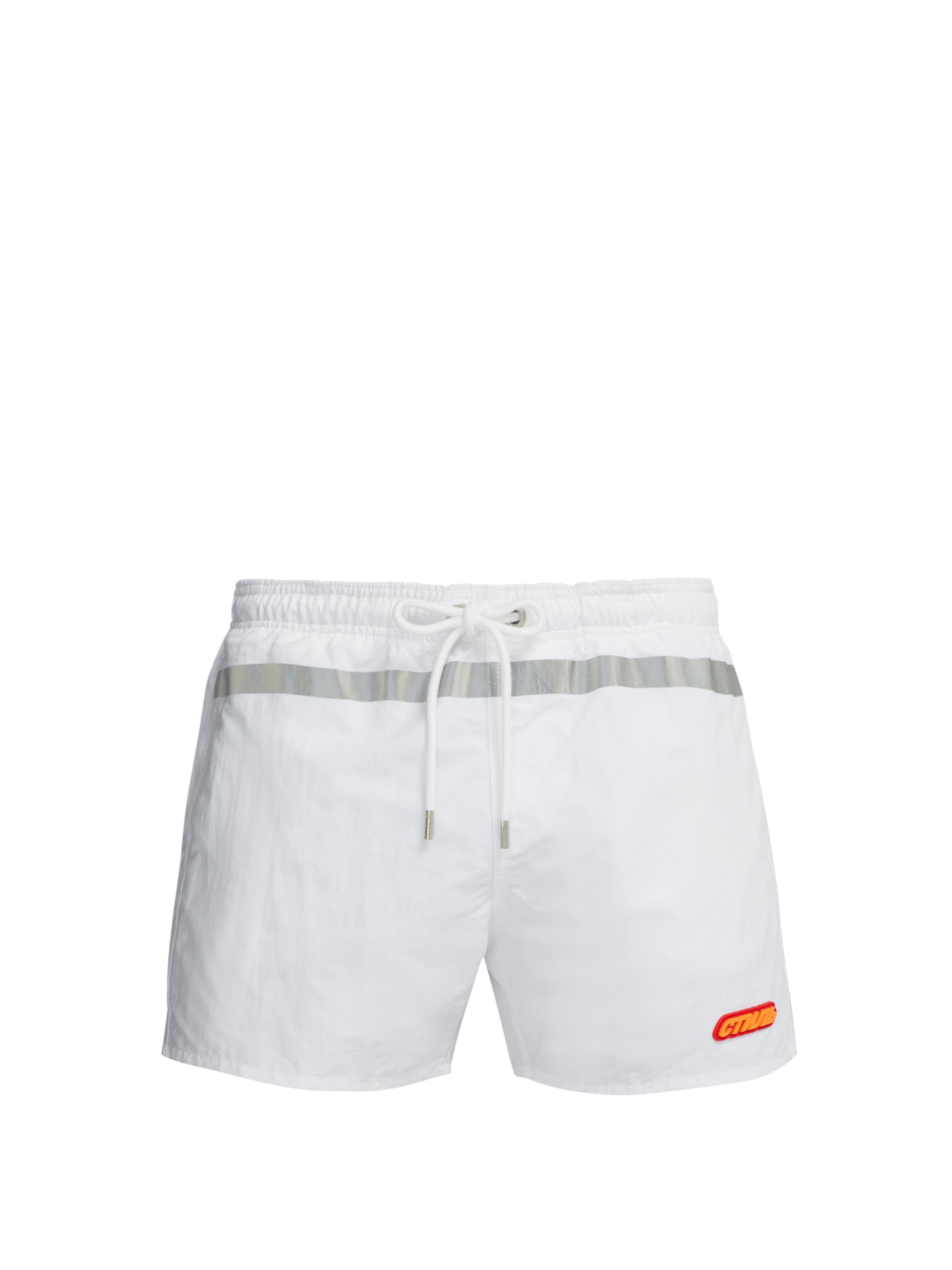 5ac03ac94f Heron Preston Drawstring Swim Shorts in White for Men - Lyst
