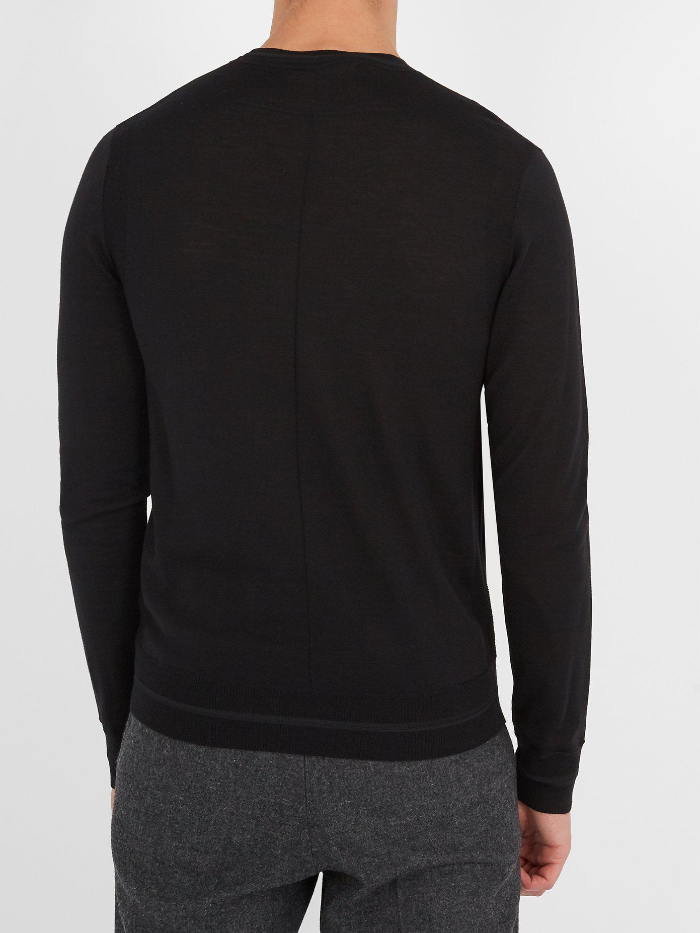 14ccf2bd0f4 Lyst - Pull en laine à appliqué insigne Givenchy pour homme en ...
