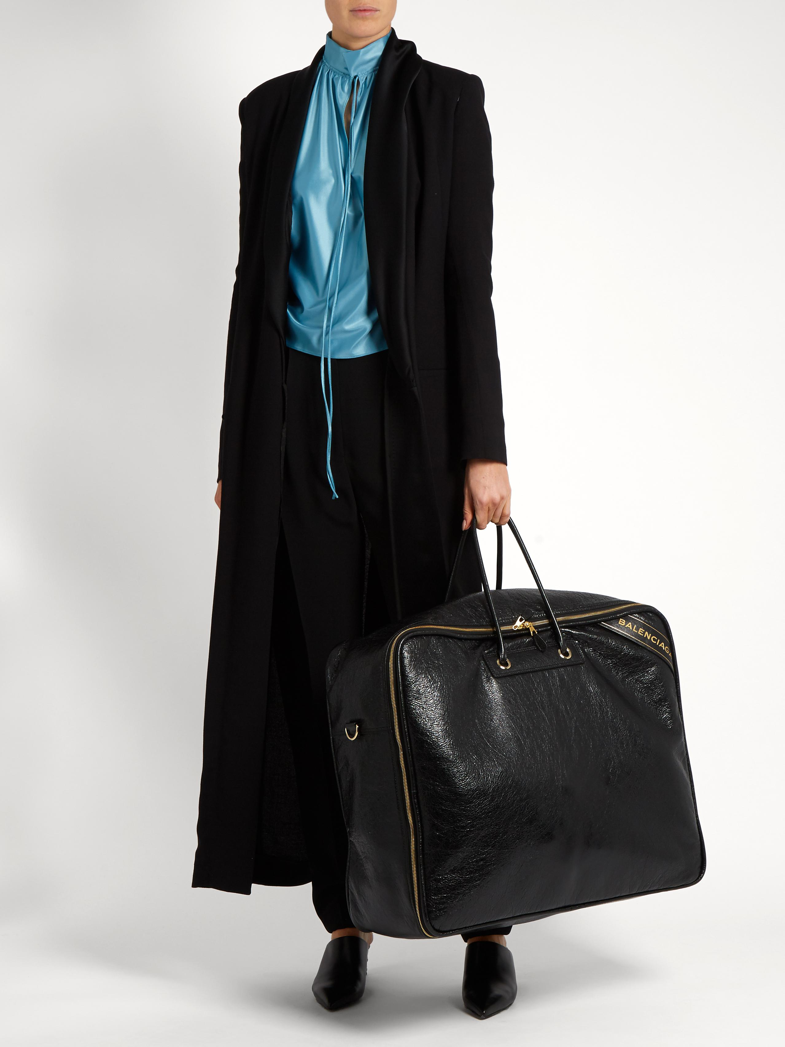 497cf6bdd9 Balenciaga Blanket Square Extra-large Leather Tote in Black - Lyst