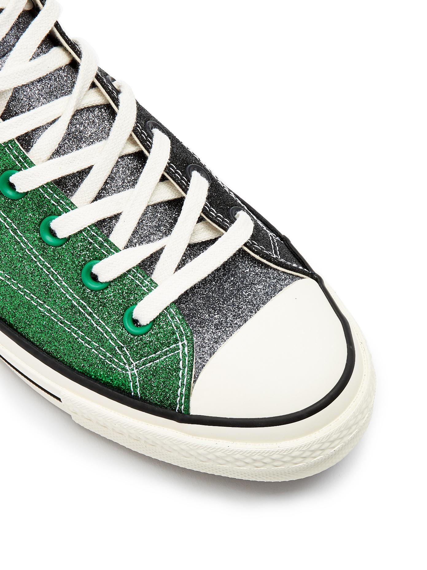 8adc62f3054 Lyst - Converse X Jw Anderson Glitter High-top Trainers in Green for Men