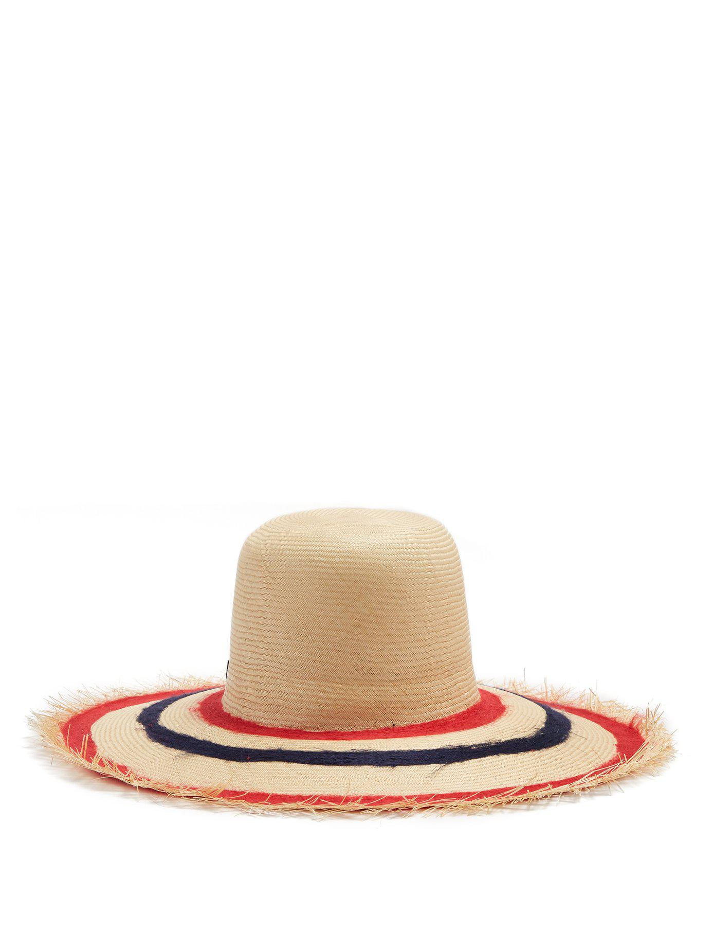 1e62161fd98 Lyst - Filù Hats Sinatra Feather Trimmed Straw Hat - Save 21%