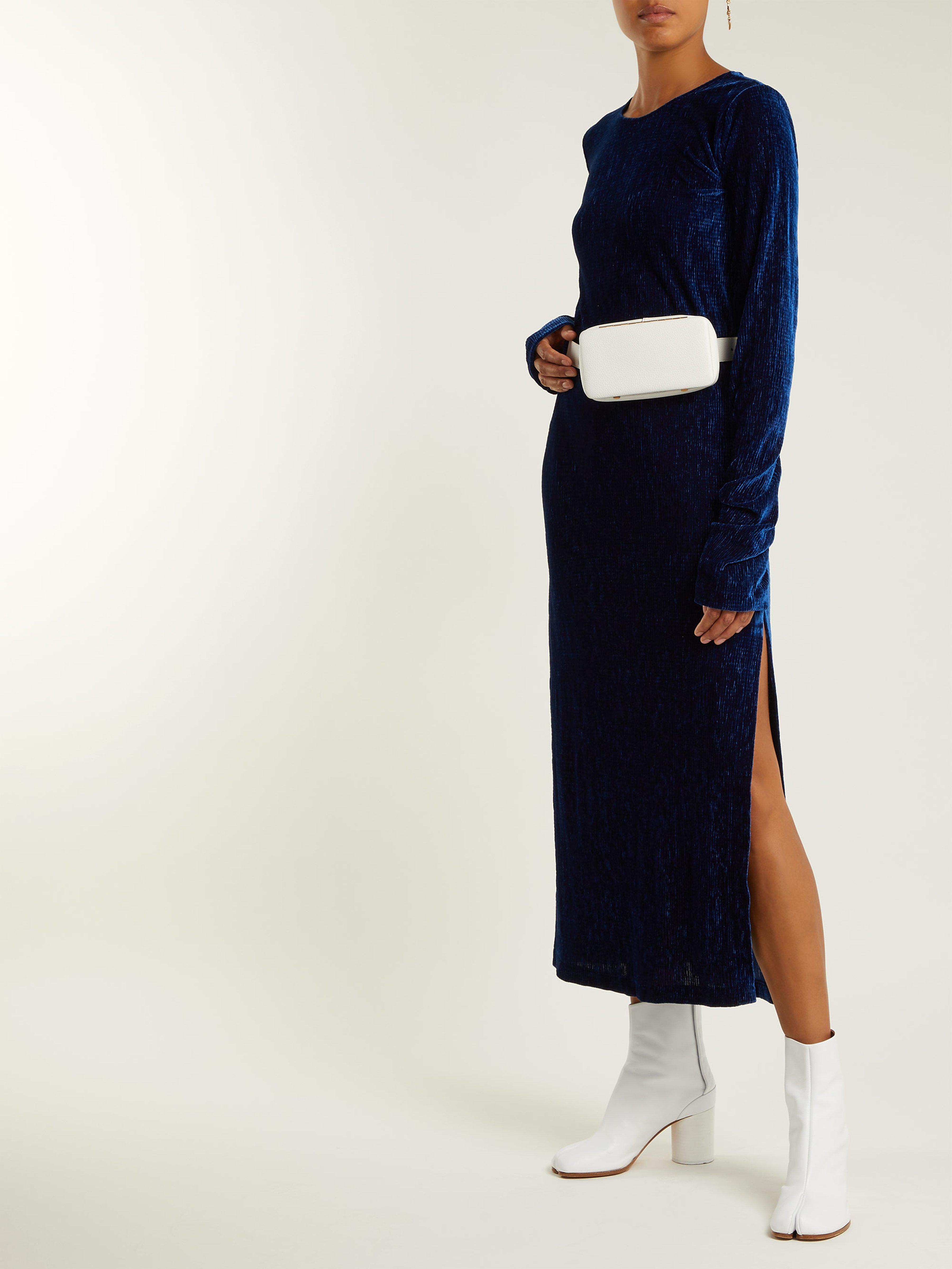 9a09383ad MM6 by Maison Martin Margiela Velvet Dress in Blue - Lyst