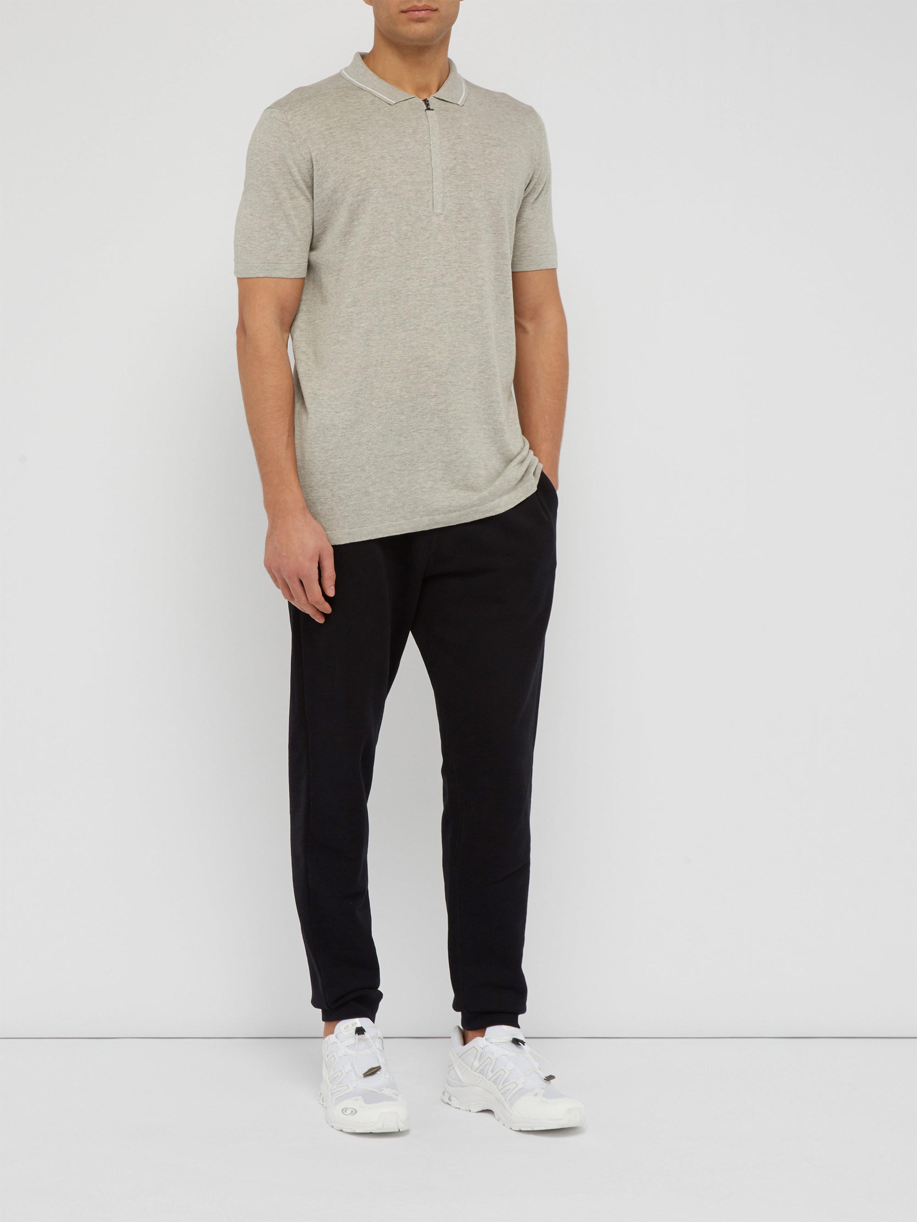 21f828da6 Falke Half Zip Silk Blend Polo Shirt in Gray for Men - Lyst