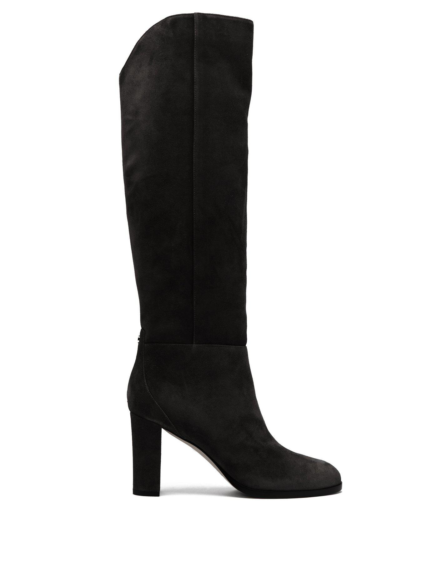 a19dac77ee87 Lyst - Jimmy Choo Madalie 80 Knee High Suede Boots in Blue