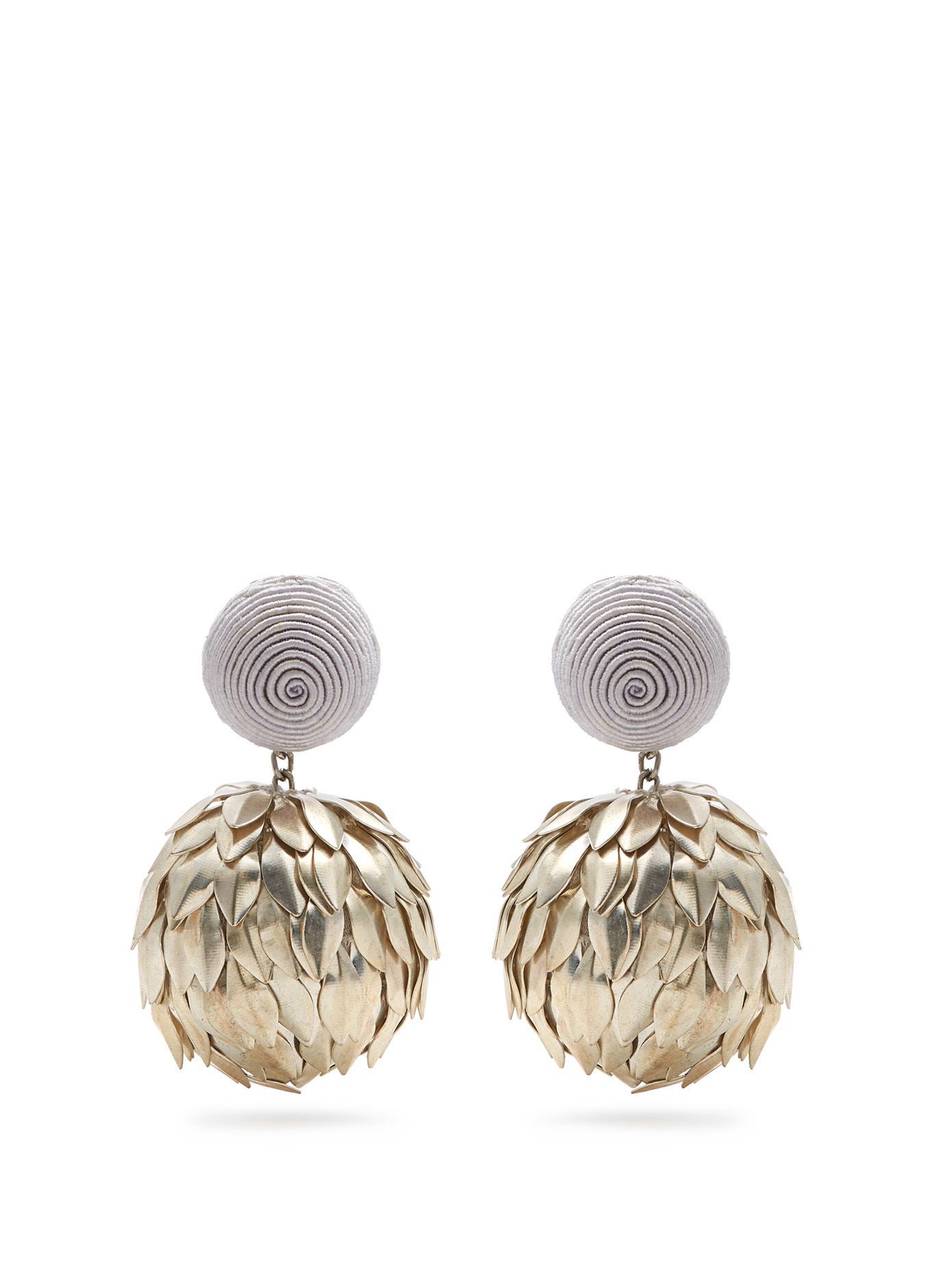 Elle drop clip-on earrings Rebecca de Ravenel 34LaUlP