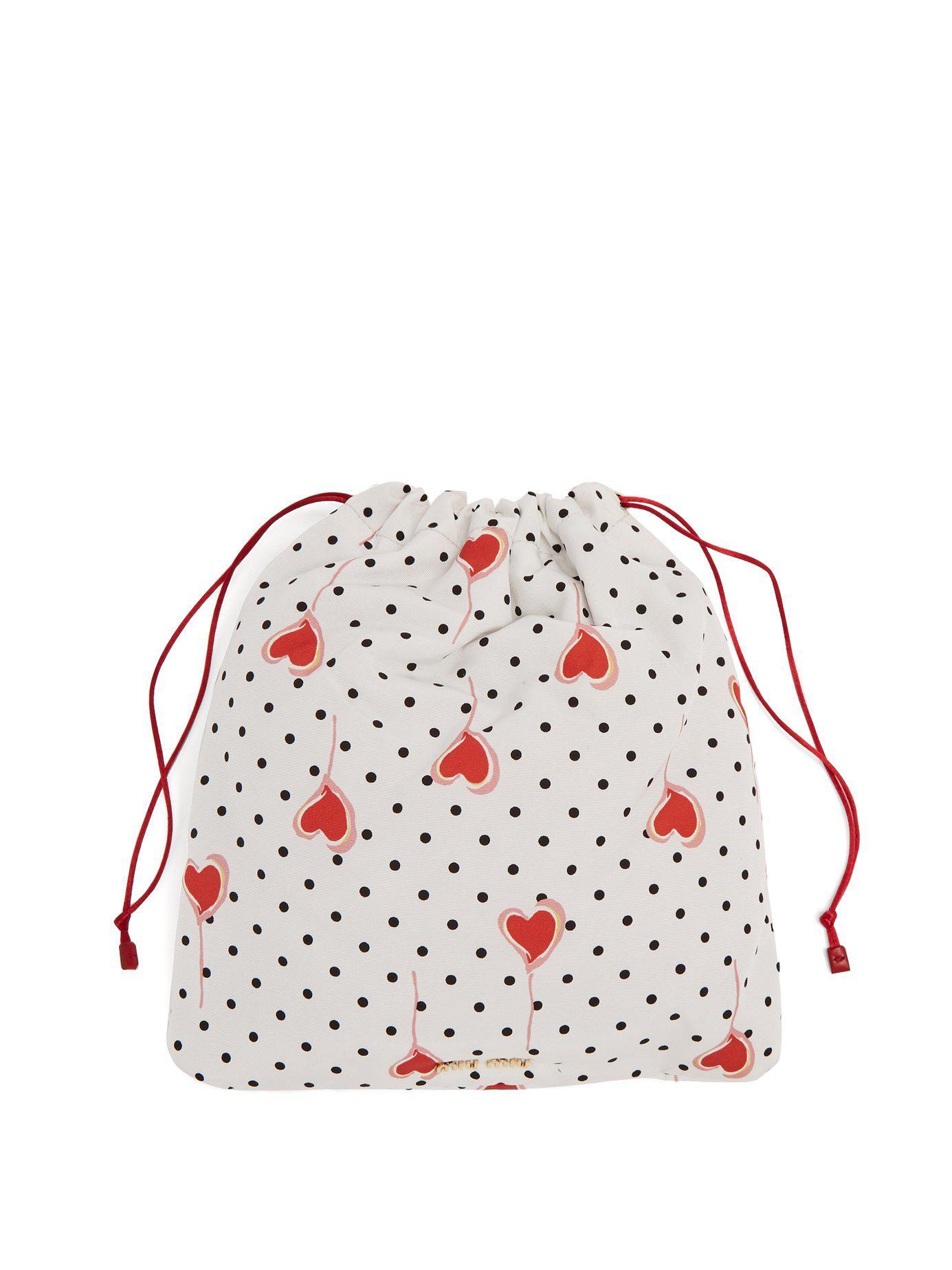 a93b664098f Lyst - Miu Miu - Daisy Print Drawstring Make Up Bag - Womens - Pink ...