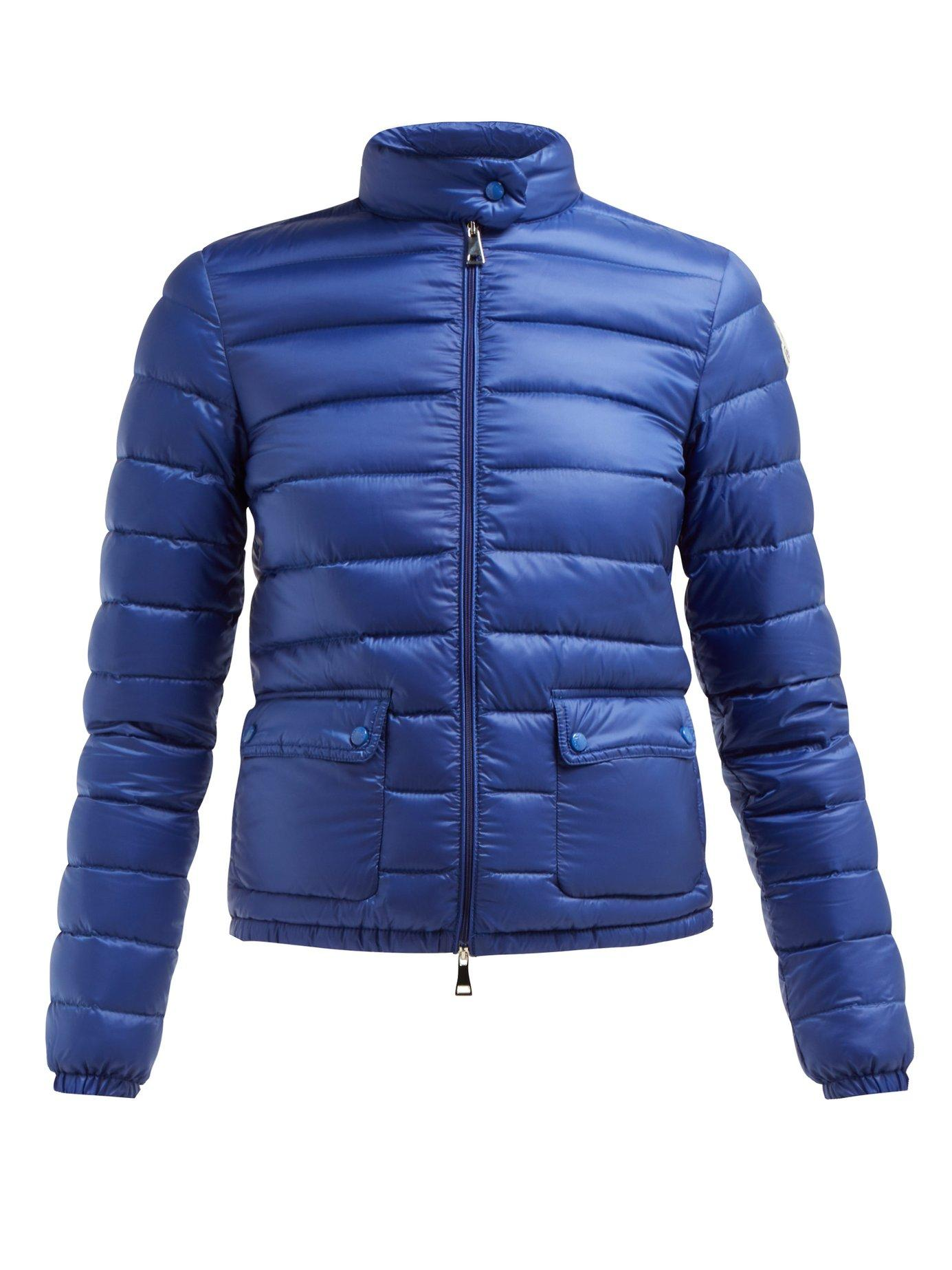 1d2854035ff1 Lyst - Moncler Lans Quilted Down Filled Jacket in Blue