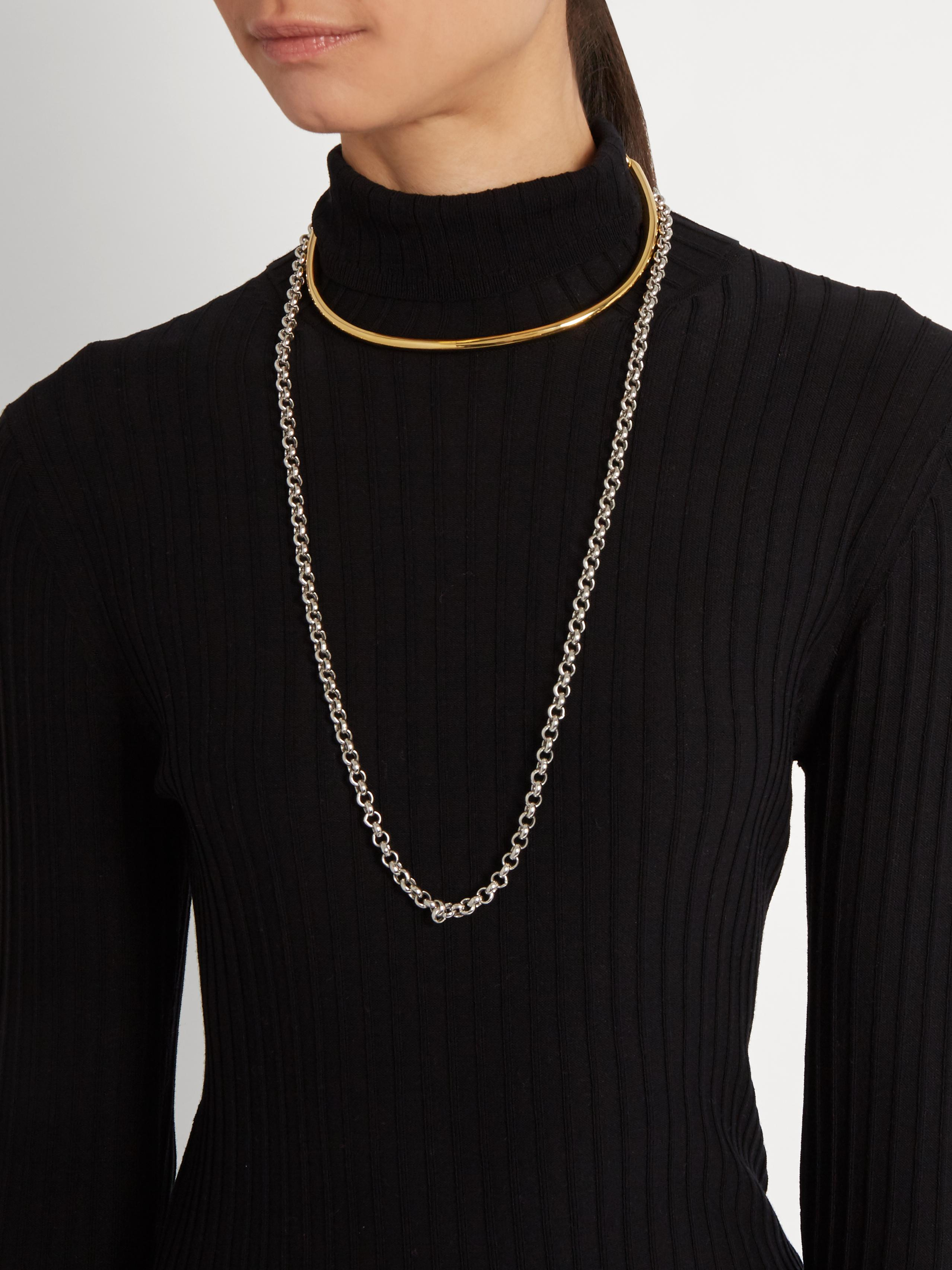 Charlotte Chesnais Briska necklace - Metallic B7IMa