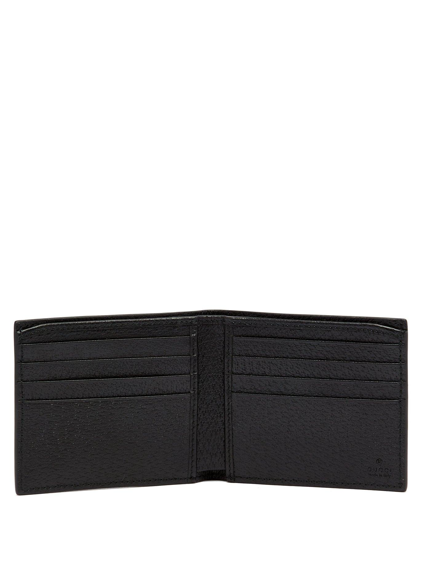 d451c4f381ae32 Gucci Gg Marmont Grained Leather Bi Fold Wallet in Black for Men - Save 16%  - Lyst