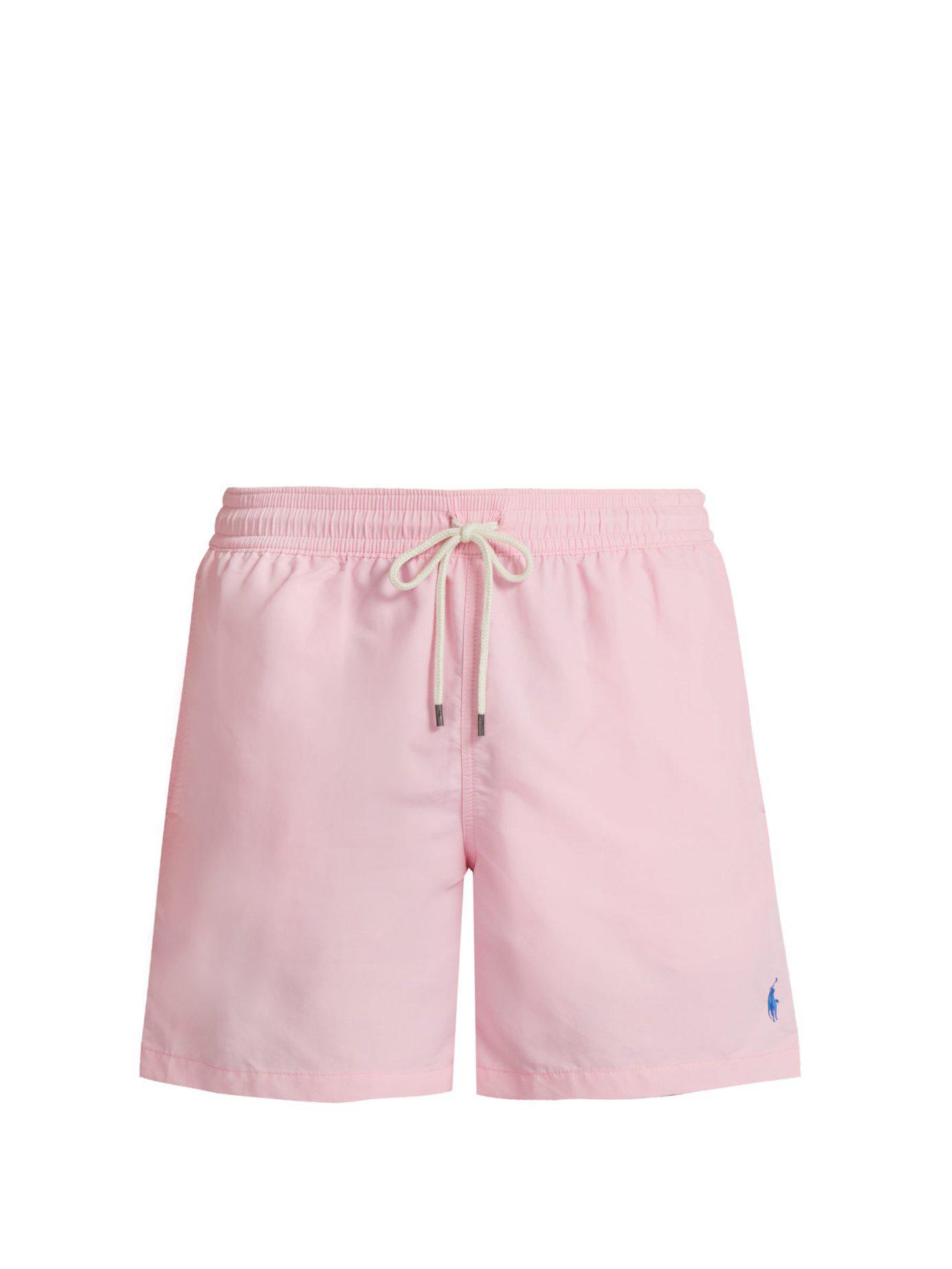 ecdd347613631 Lyst - Polo Ralph Lauren Traveller Swim Shorts in Pink for Men ...