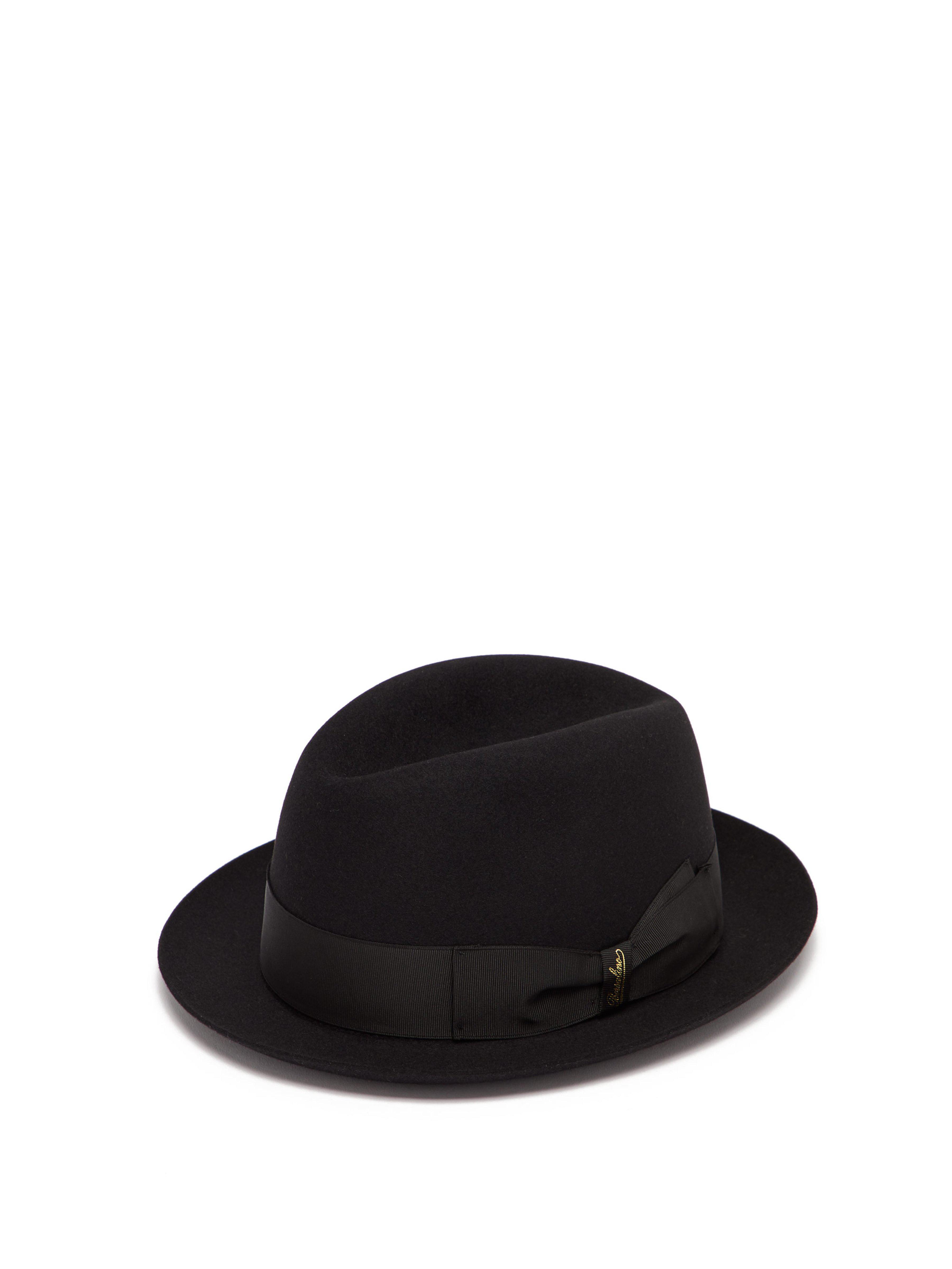 190e25d7a78 Borsalino Alessandria Felt Hat in Black for Men - Save 10% - Lyst