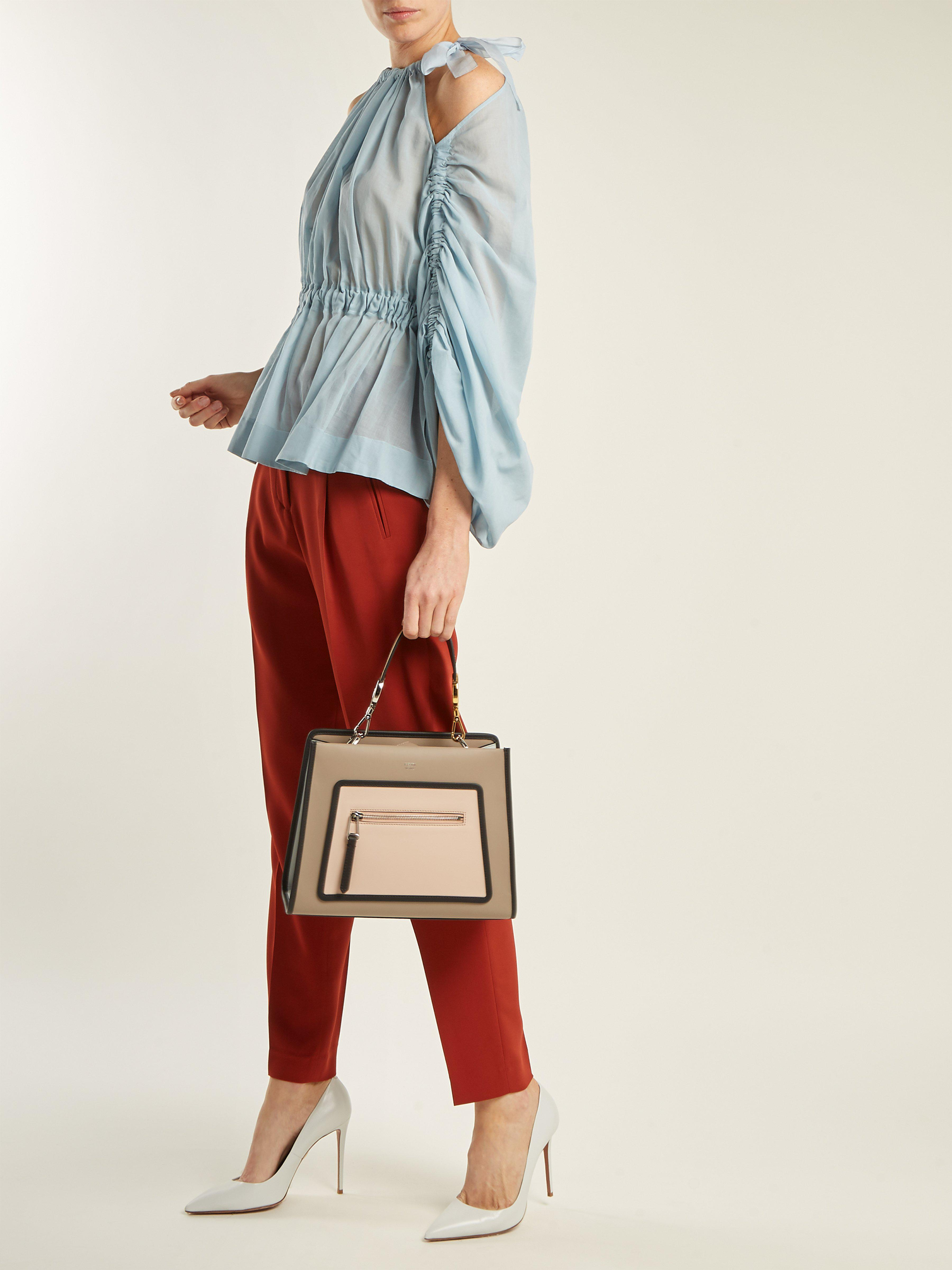 Fendi - Multicolor Runaway Leather Tote Bag - Lyst. View fullscreen 0834ef820e774