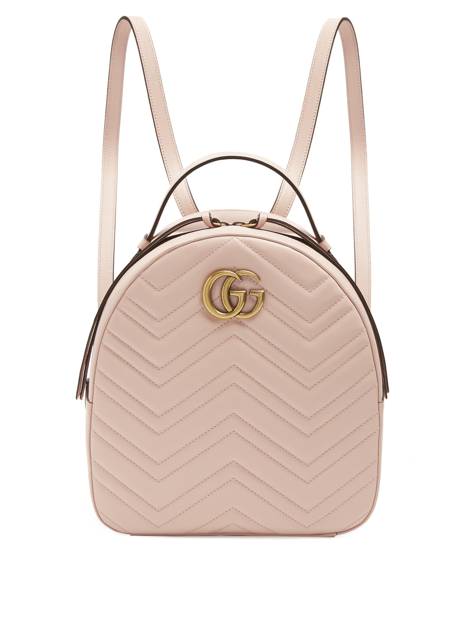 eab8b9d8788 Lyst - Gucci Gg Marmont Quilted-leather Backpack in Pink