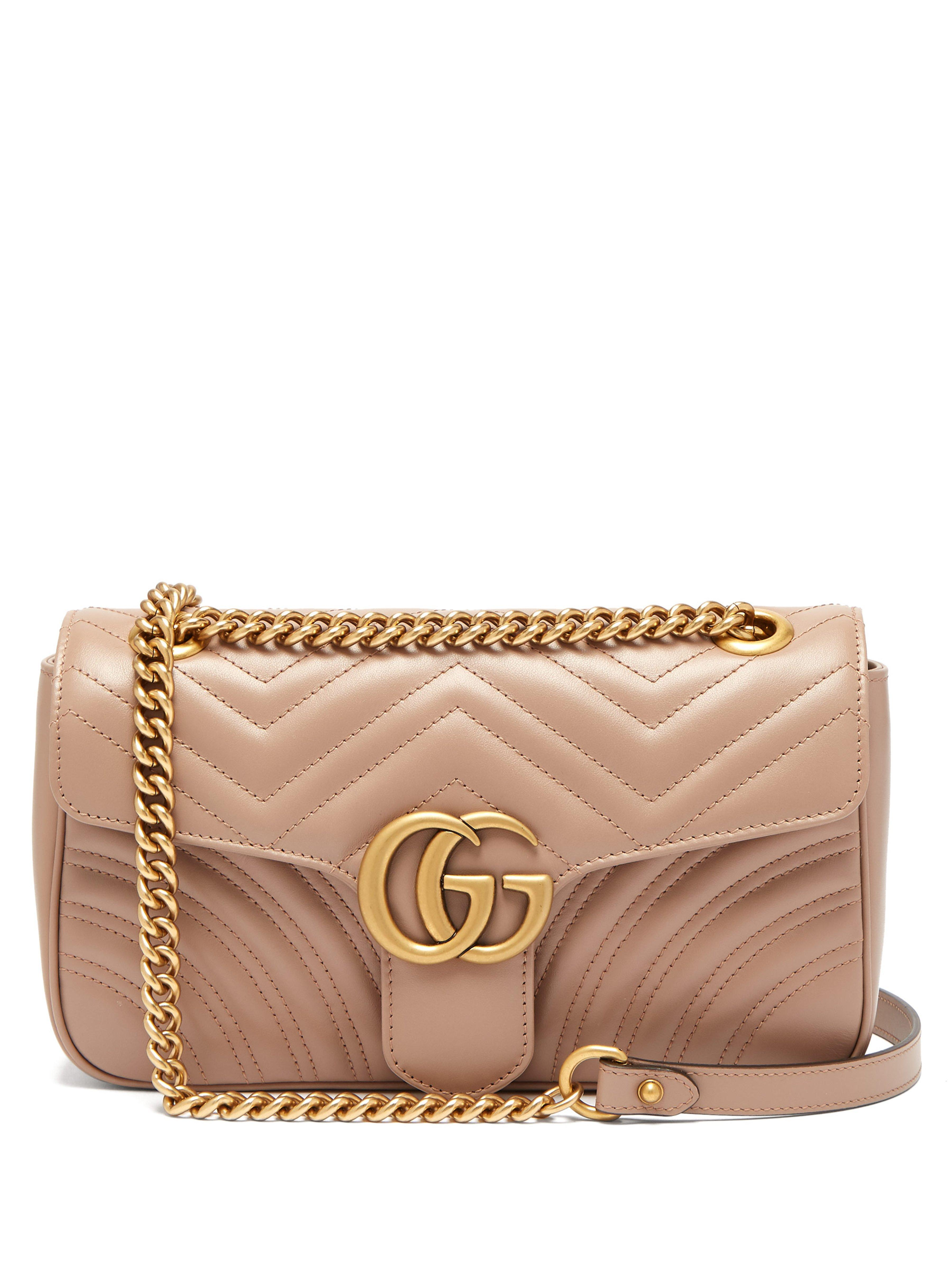 52fe15d07711ad Gucci Gg Marmont Small Quilted Leather Shoulder Bag - Save 9% - Lyst