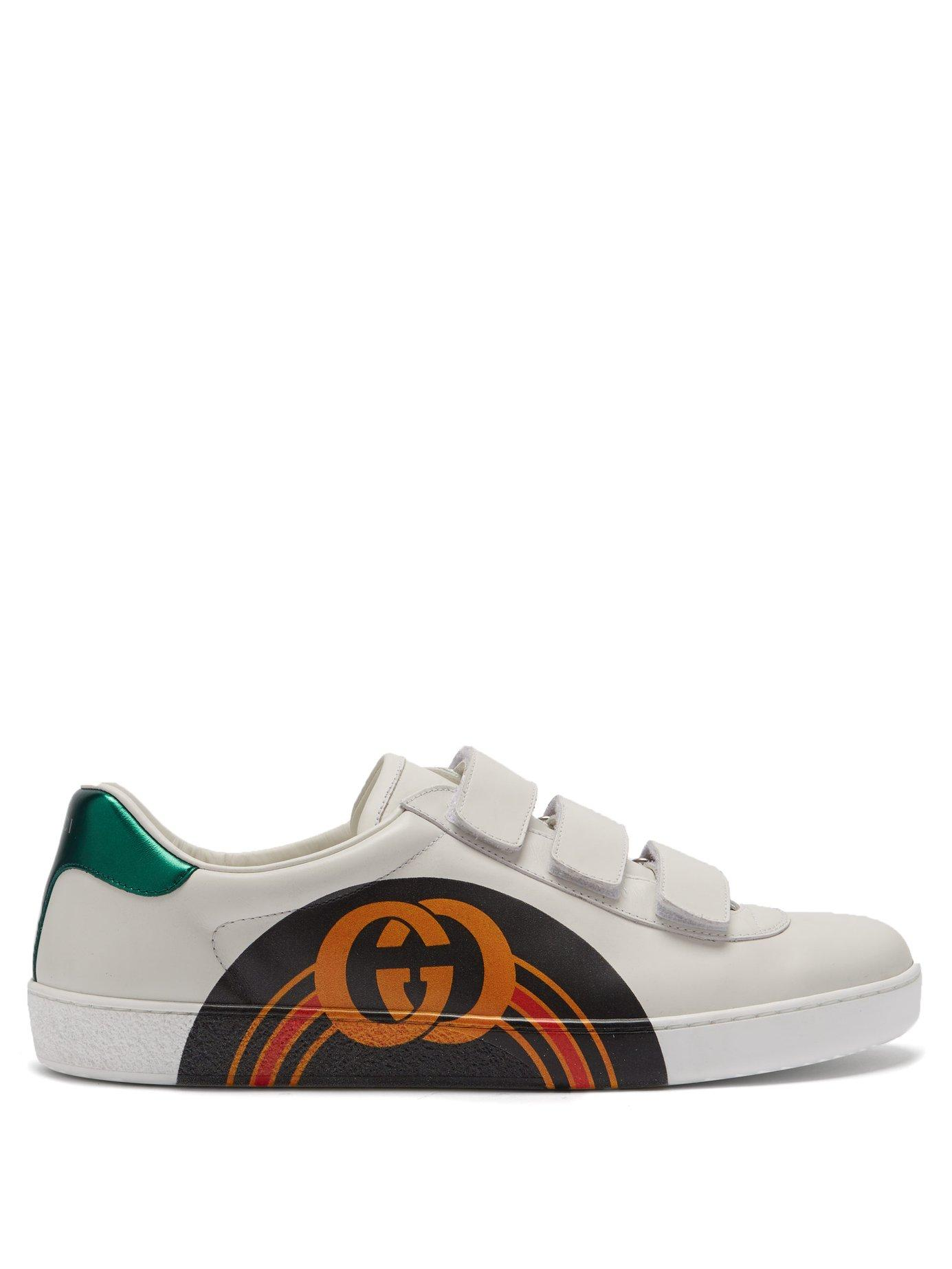 f48b42e8bdf Lyst - Gucci New Ace Gg Print Leather Trainers for Men
