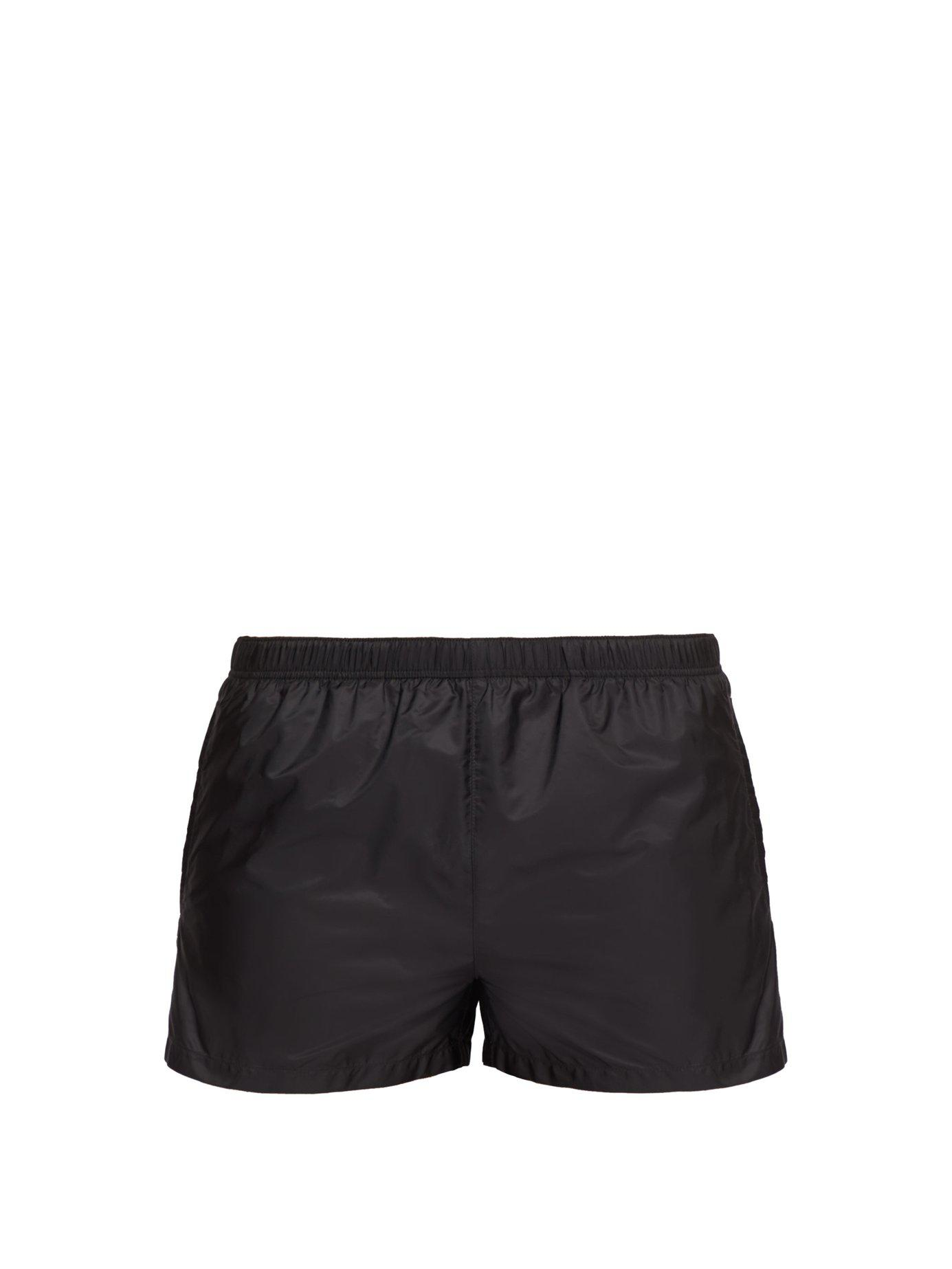 f1acbce4589 Lyst - Prada Elasticated Waist Nylon Swim Shorts in Gray for Men