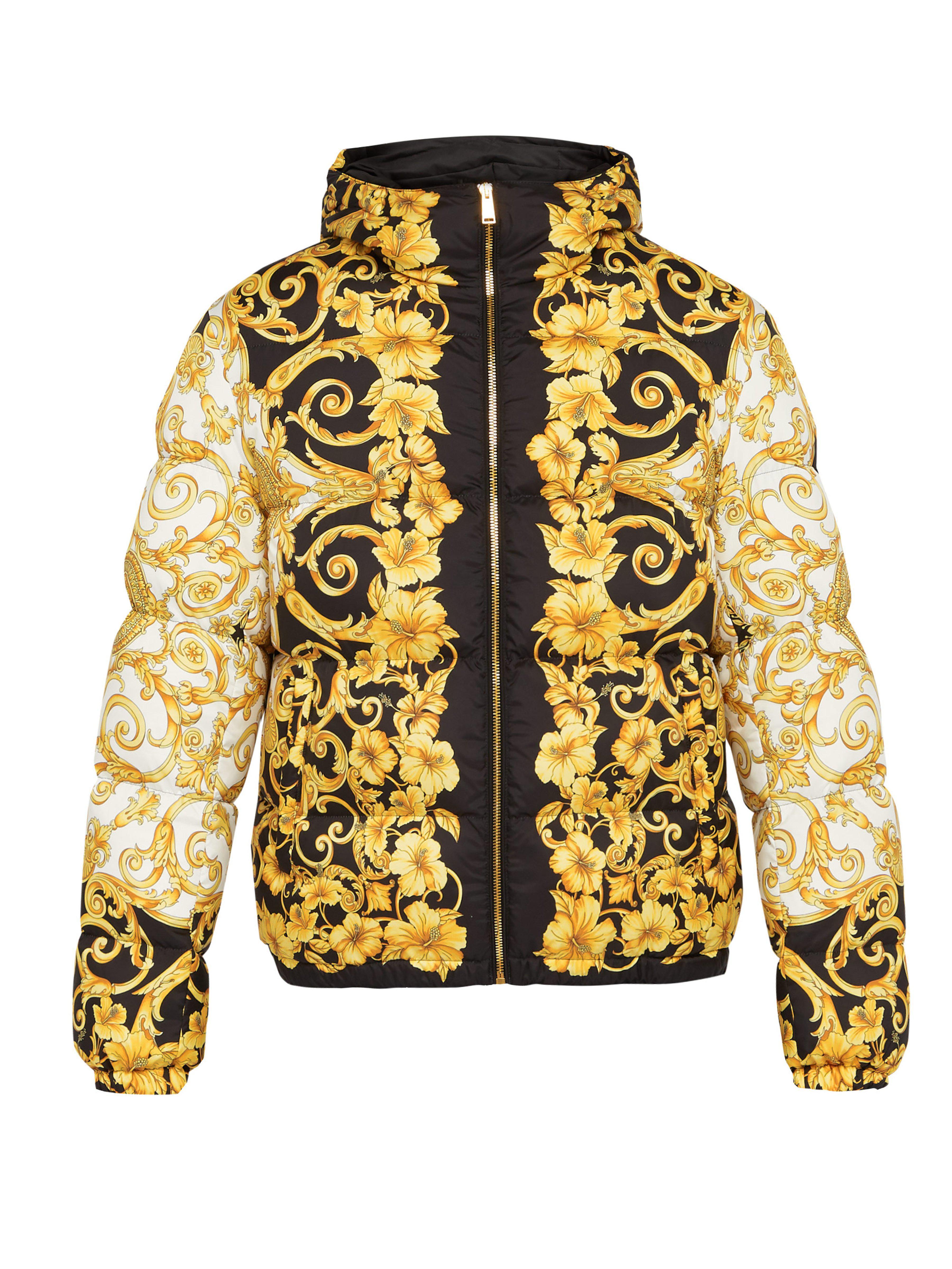 1bcc9d28a7f Lyst - Veste à capuche à imprimé baroque Versace pour homme