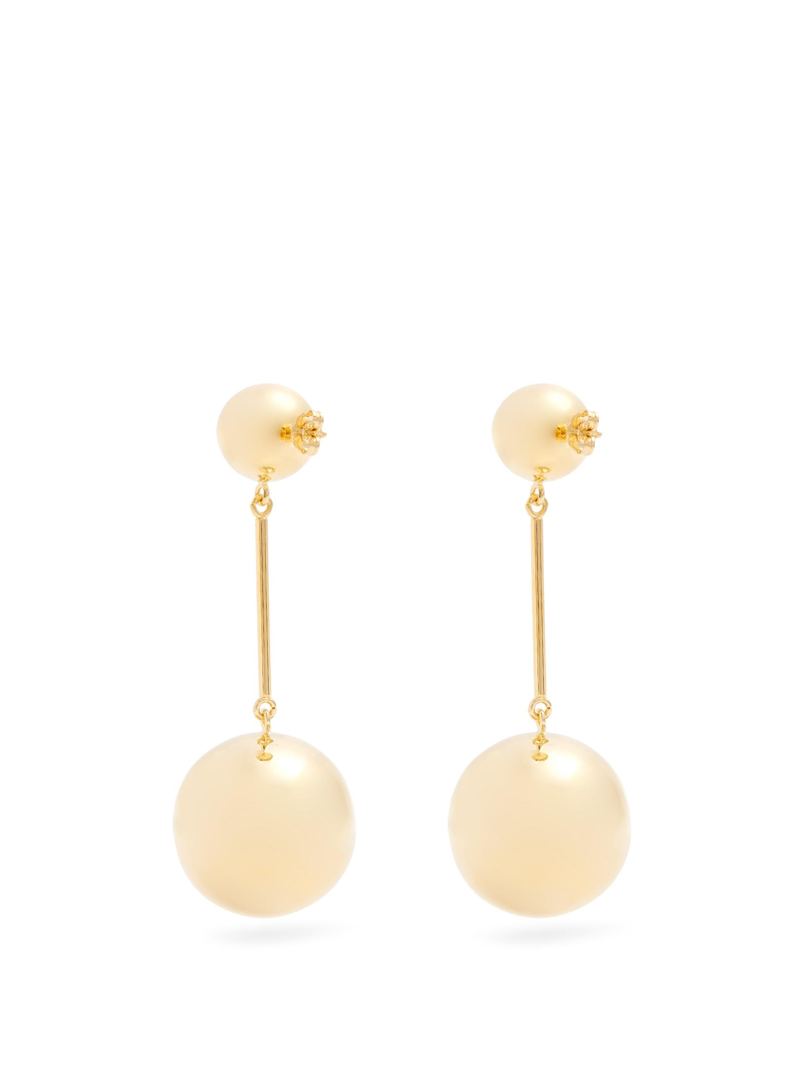 J.W.Anderson Golden sphere palladium-plated earrings yxT3Q