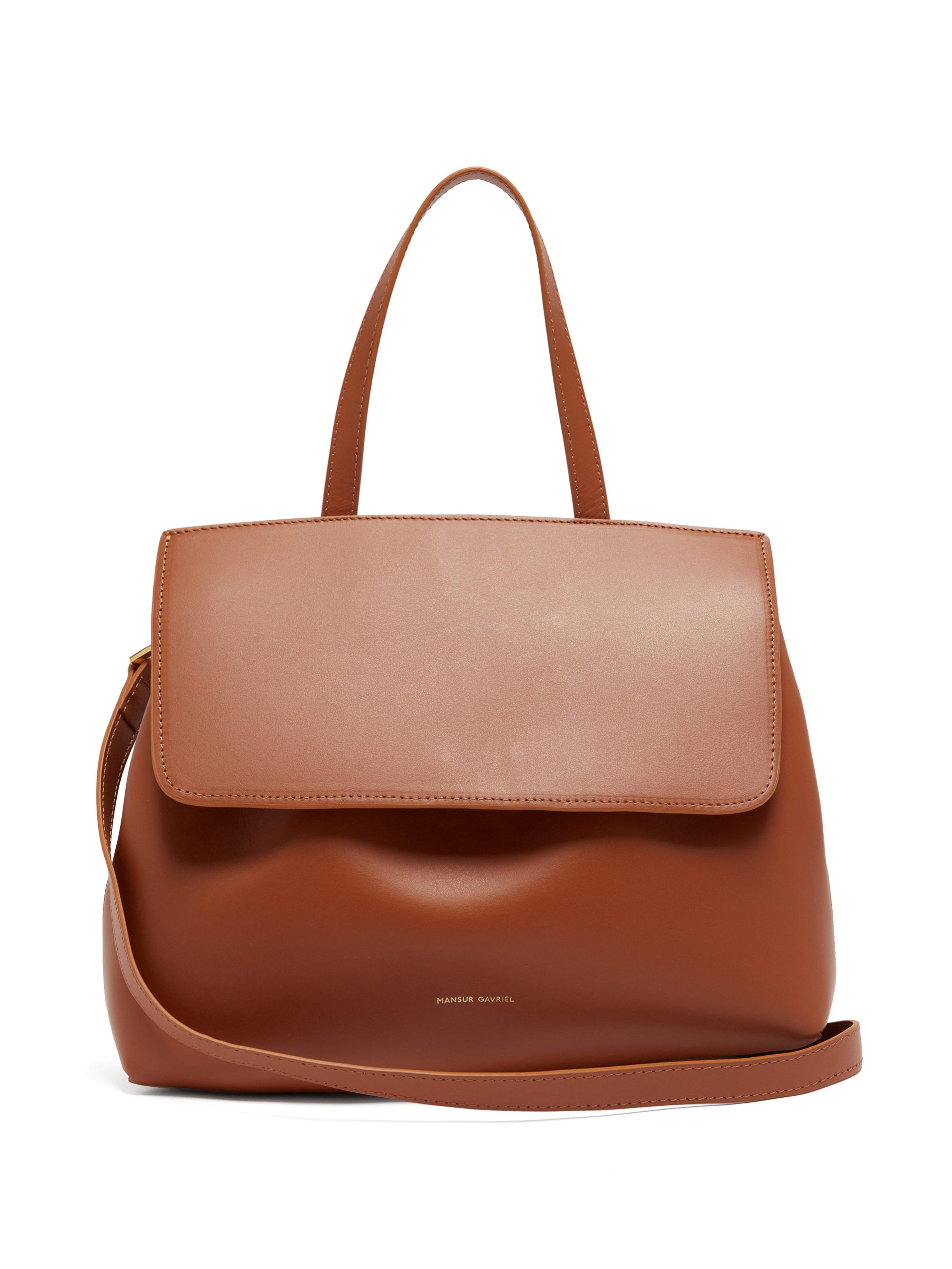 bb34497e204c Mansur Gavriel - Brown Mini Lady Drawstring Leather Bag - Lyst. View  fullscreen