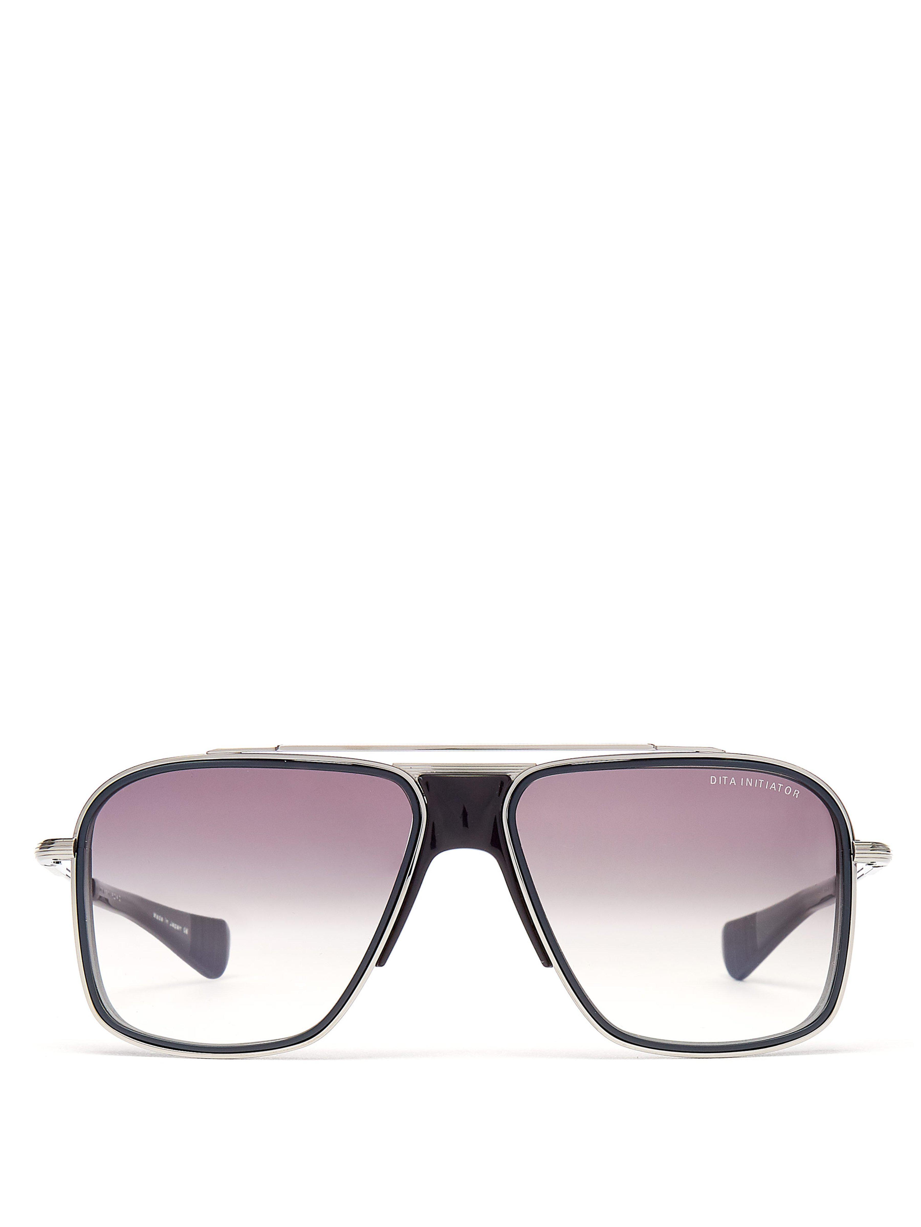 ec1b1448658 Dita Eyewear Initiator Aviator D Frame Titanium Sunglasses in Black ...