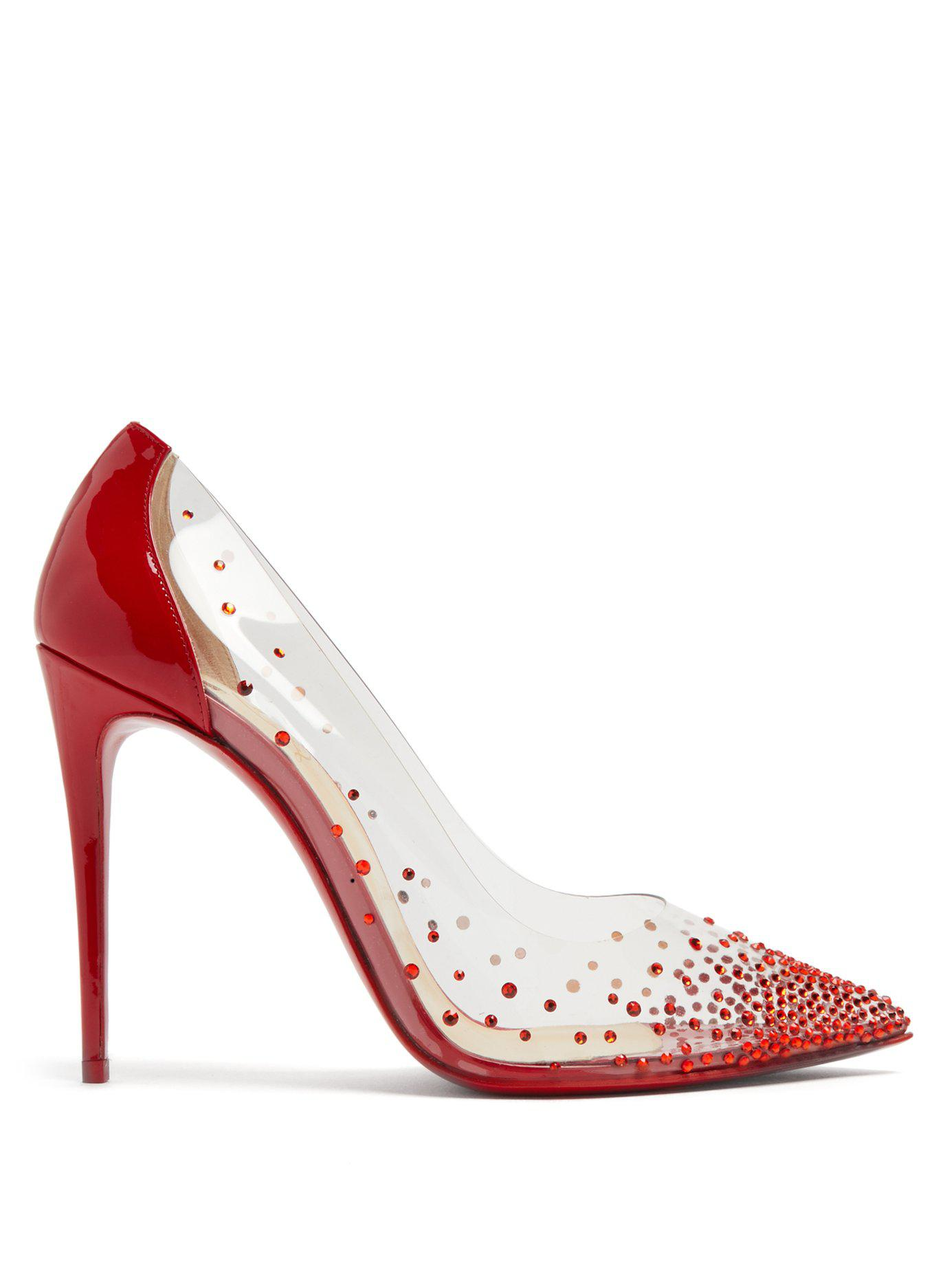5a2aa32ab72 Lyst - Christian Louboutin Degrastrass 100mm Crystal-embellished ...