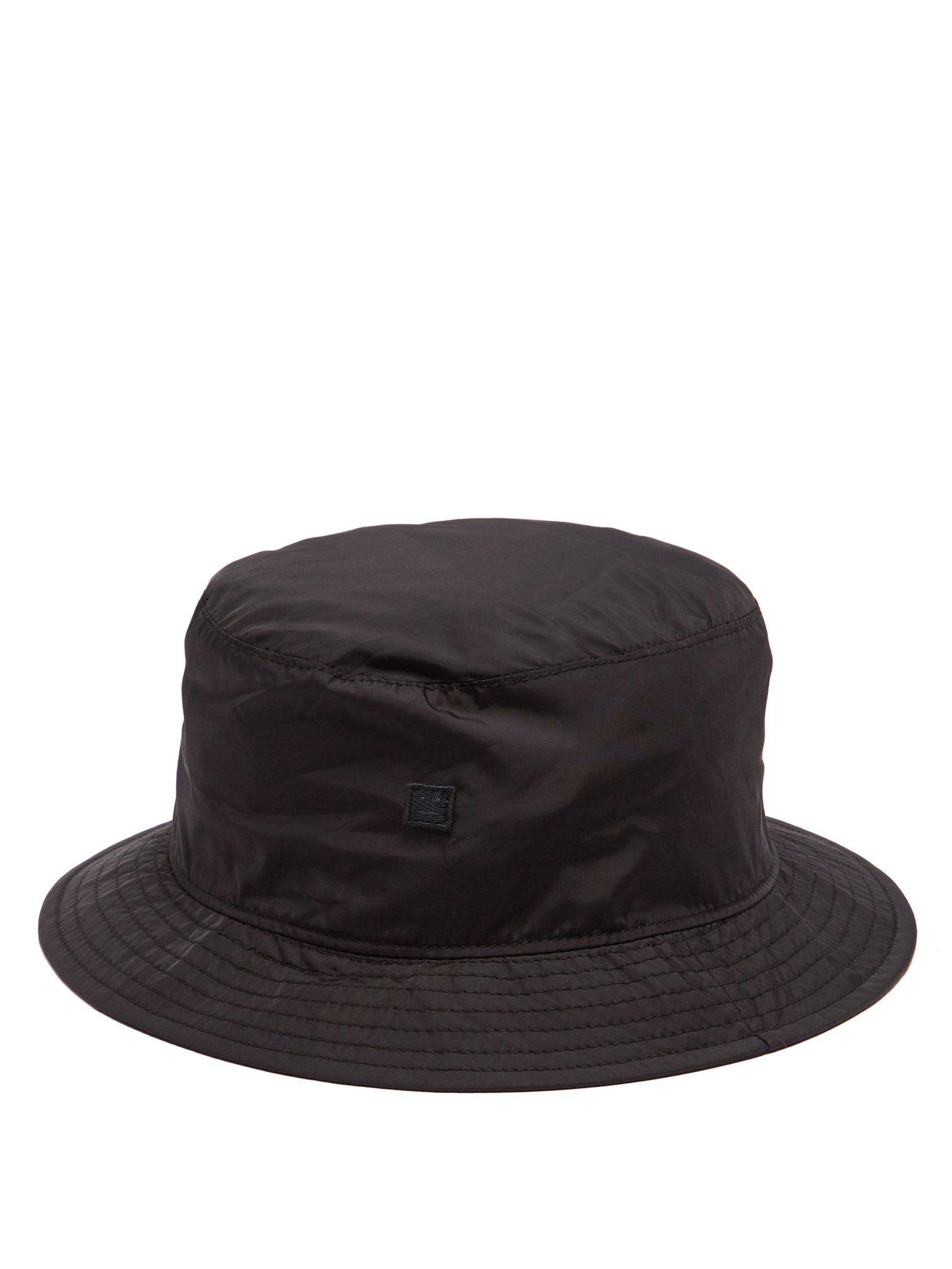 e653990872e Lyst - Acne Buk Face Technical Shell Bucket Hat in Black