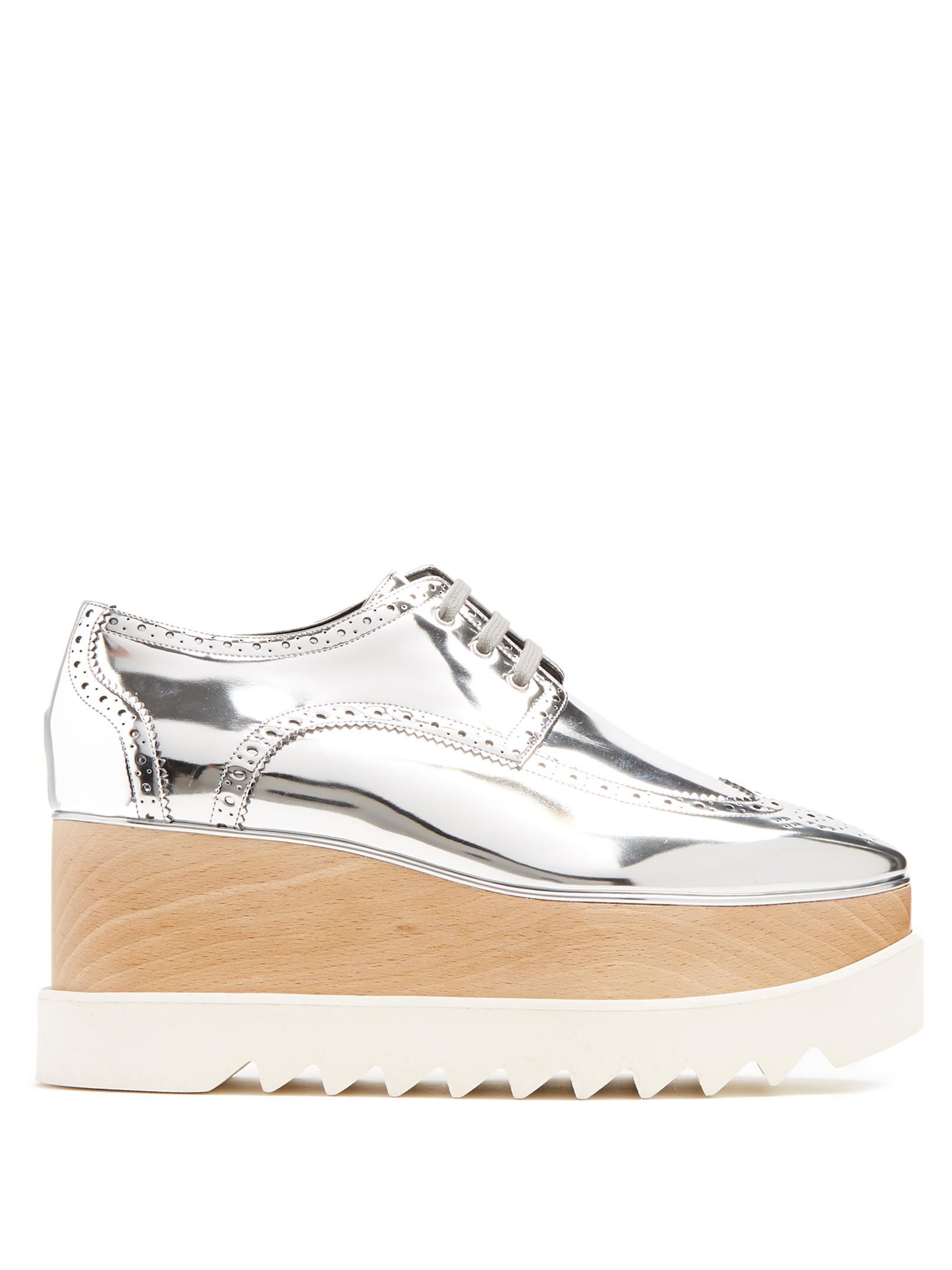 dac819a7ca9a Lyst - Stella McCartney Elyse Lace-up Faux-leather Platform Shoes in ...