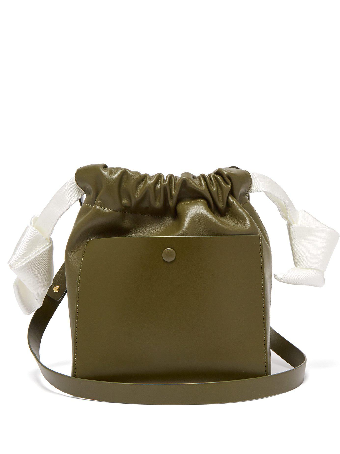 d0f8d19904b6 Lyst - Sophie Hulme Knot Leather Crossbody Bag in Natural