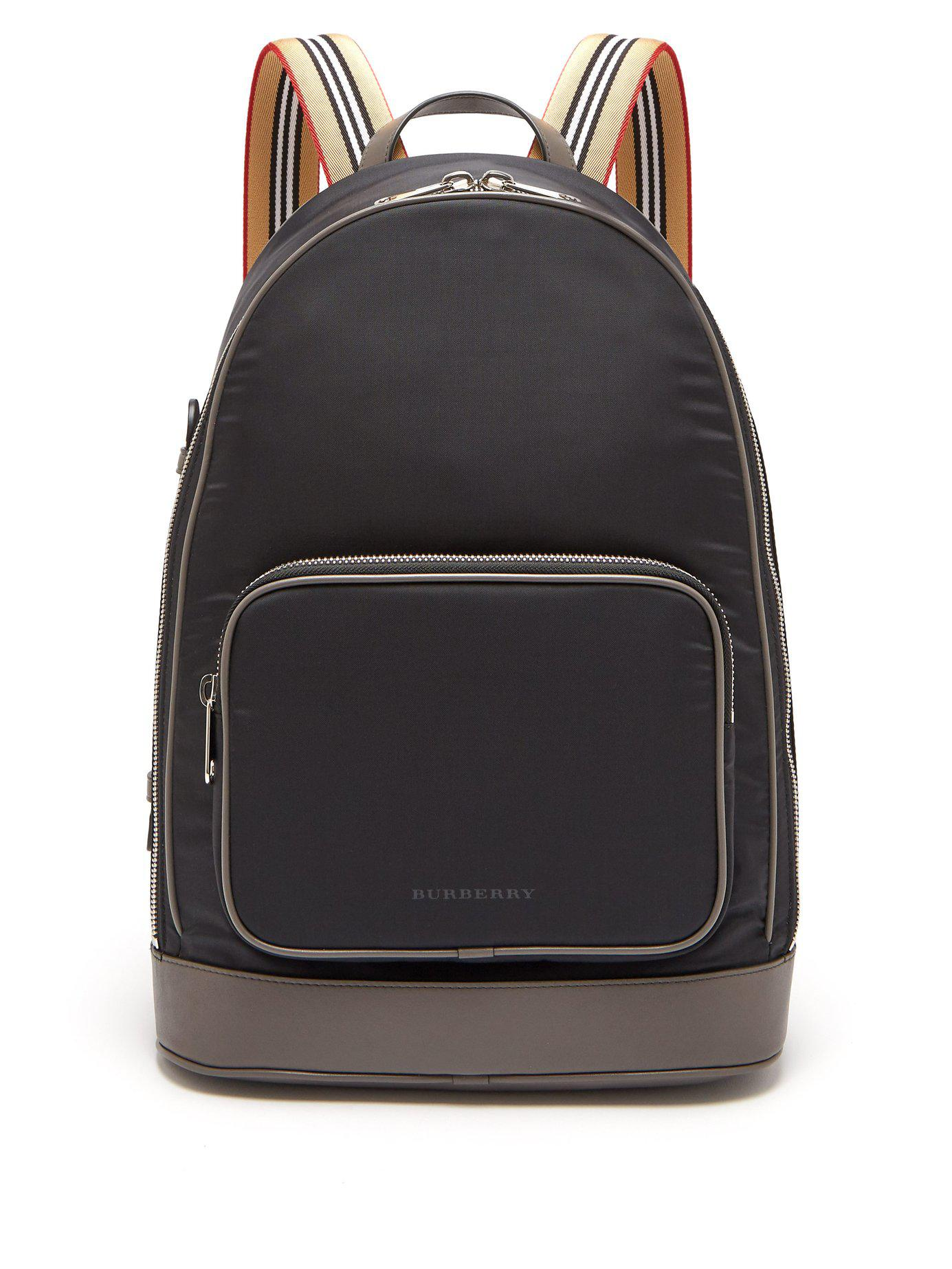 df4d35a67af0 Burberry - Black Rocco Cay Nylon Backpack for Men - Lyst. View fullscreen