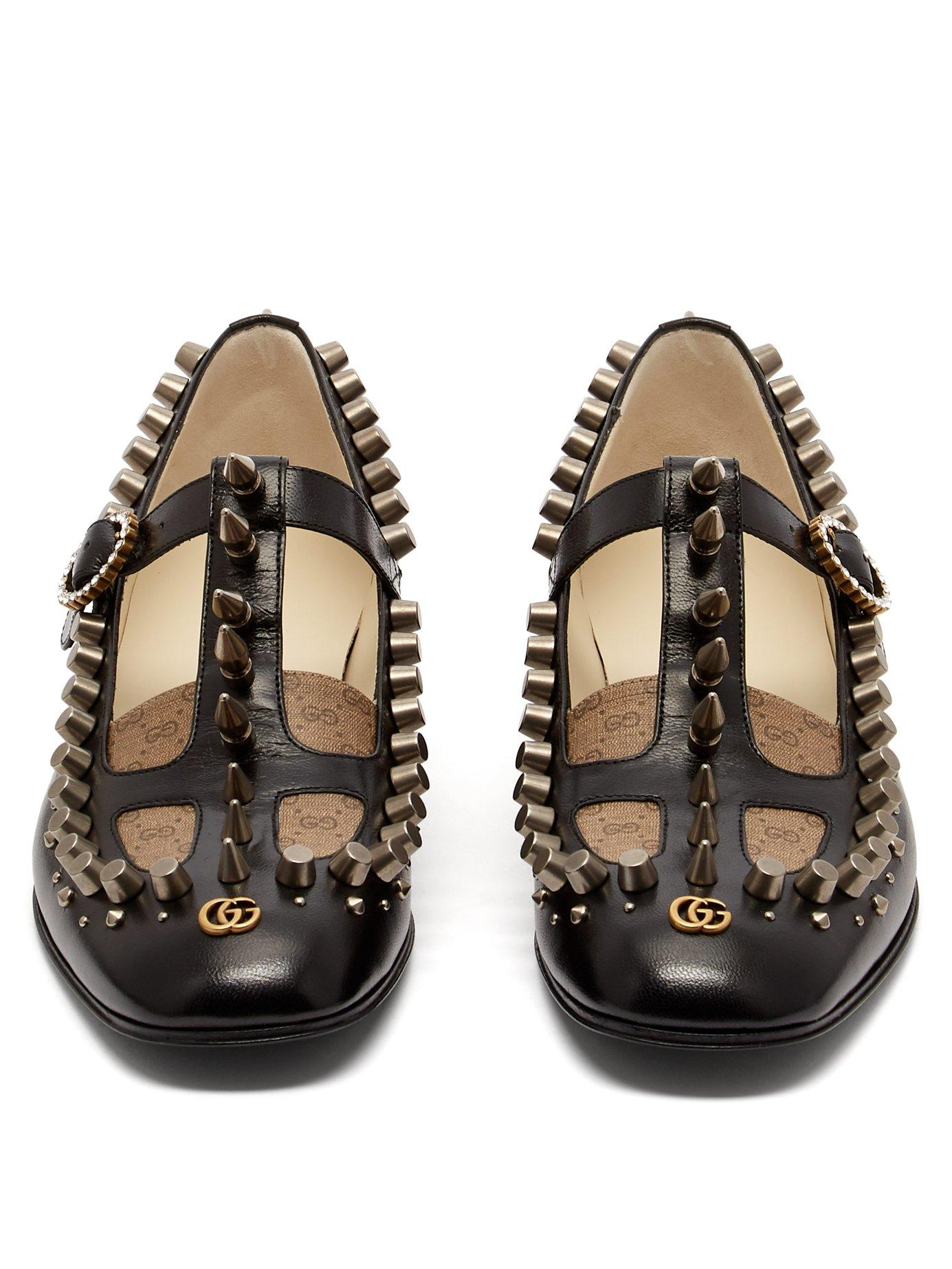 d9e4cf5b9d2 Gucci - Black Marcel Studded Leather Loafers - Lyst. View fullscreen
