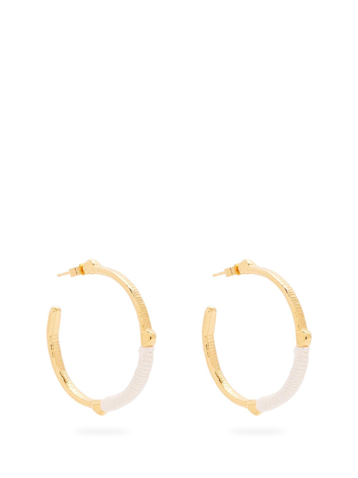 Freya gold-plated single earring Marte Frisnes kPMy76Nx