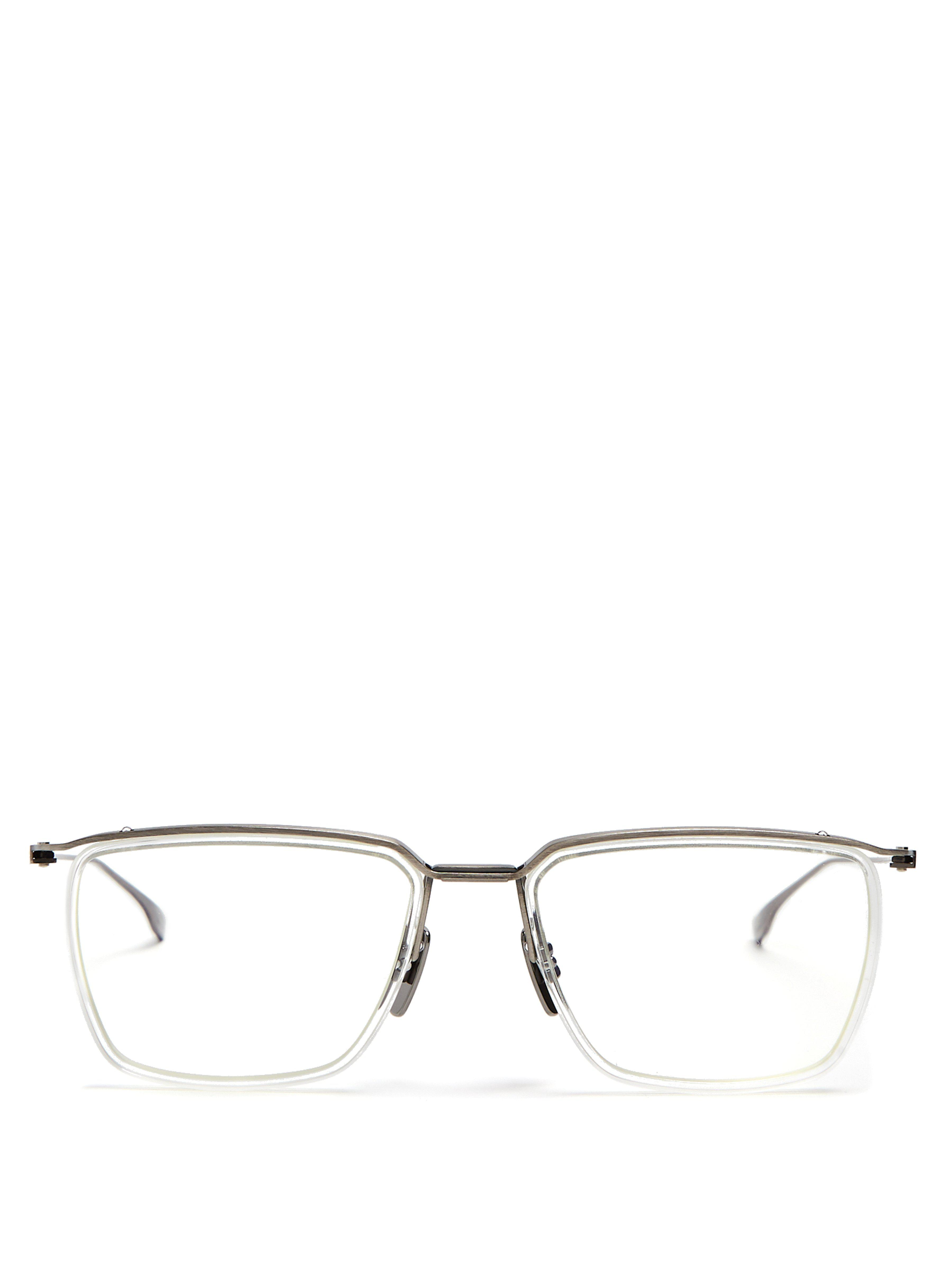 0d6d47356ca Dita Eyewear Schema Square Frame Glasses in Metallic for Men - Lyst