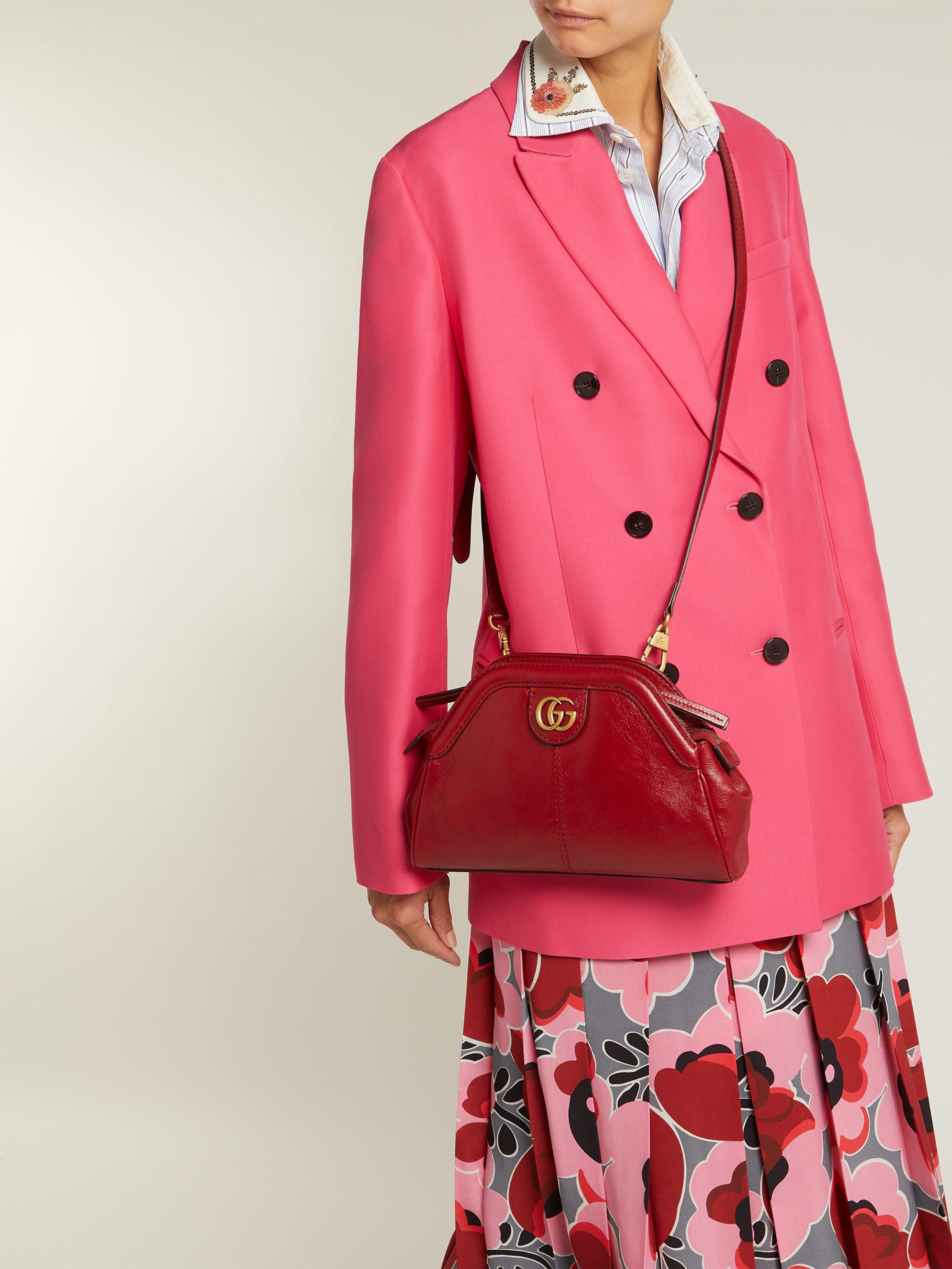 Gucci - Red Sac bandoulière en cuir Re(belle) - Lyst. Afficher en plein  écran 59f3d4758e4
