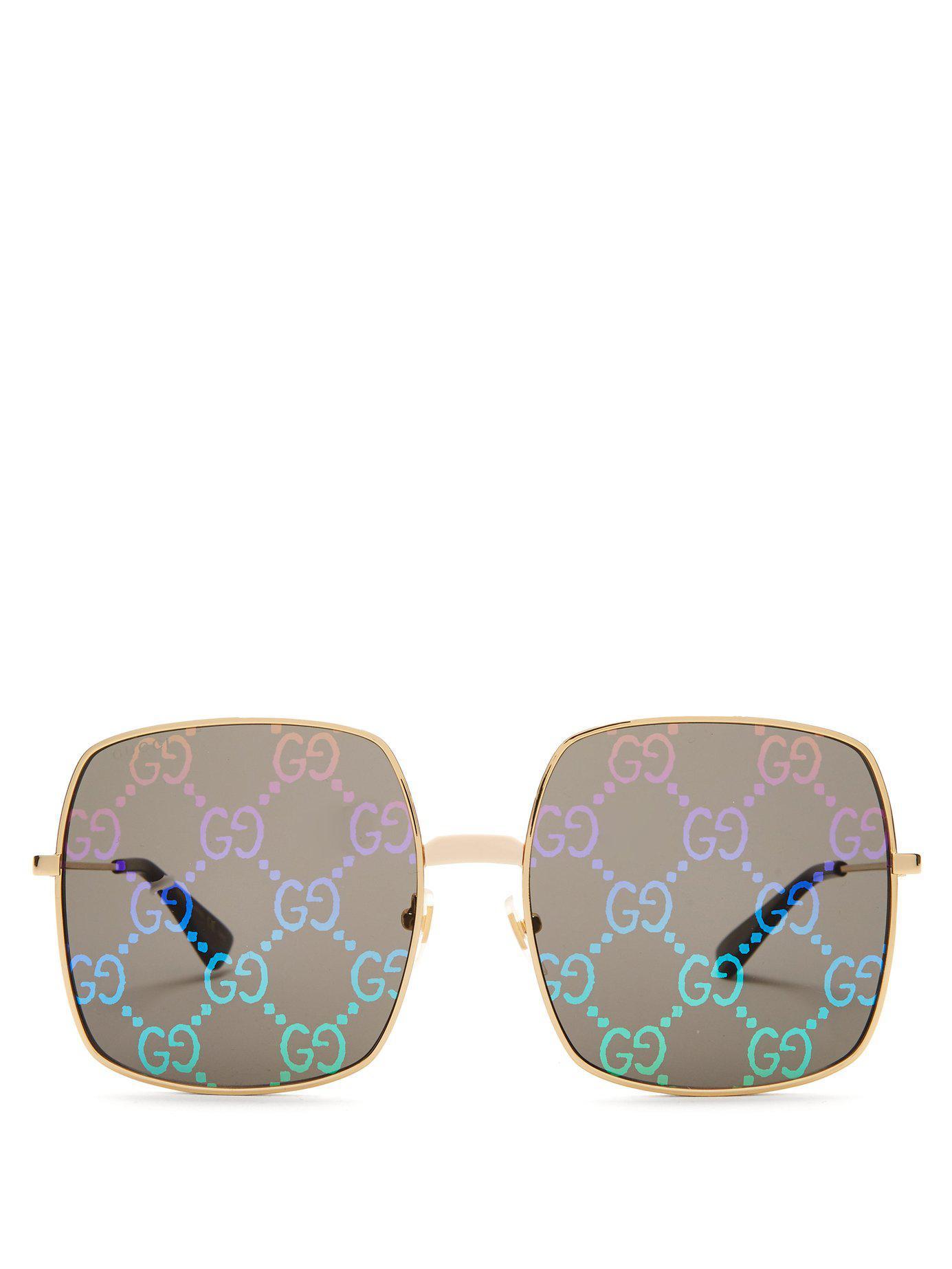 695233ae44 Lyst - Gucci Gg Supreme Oversized Sunglasses