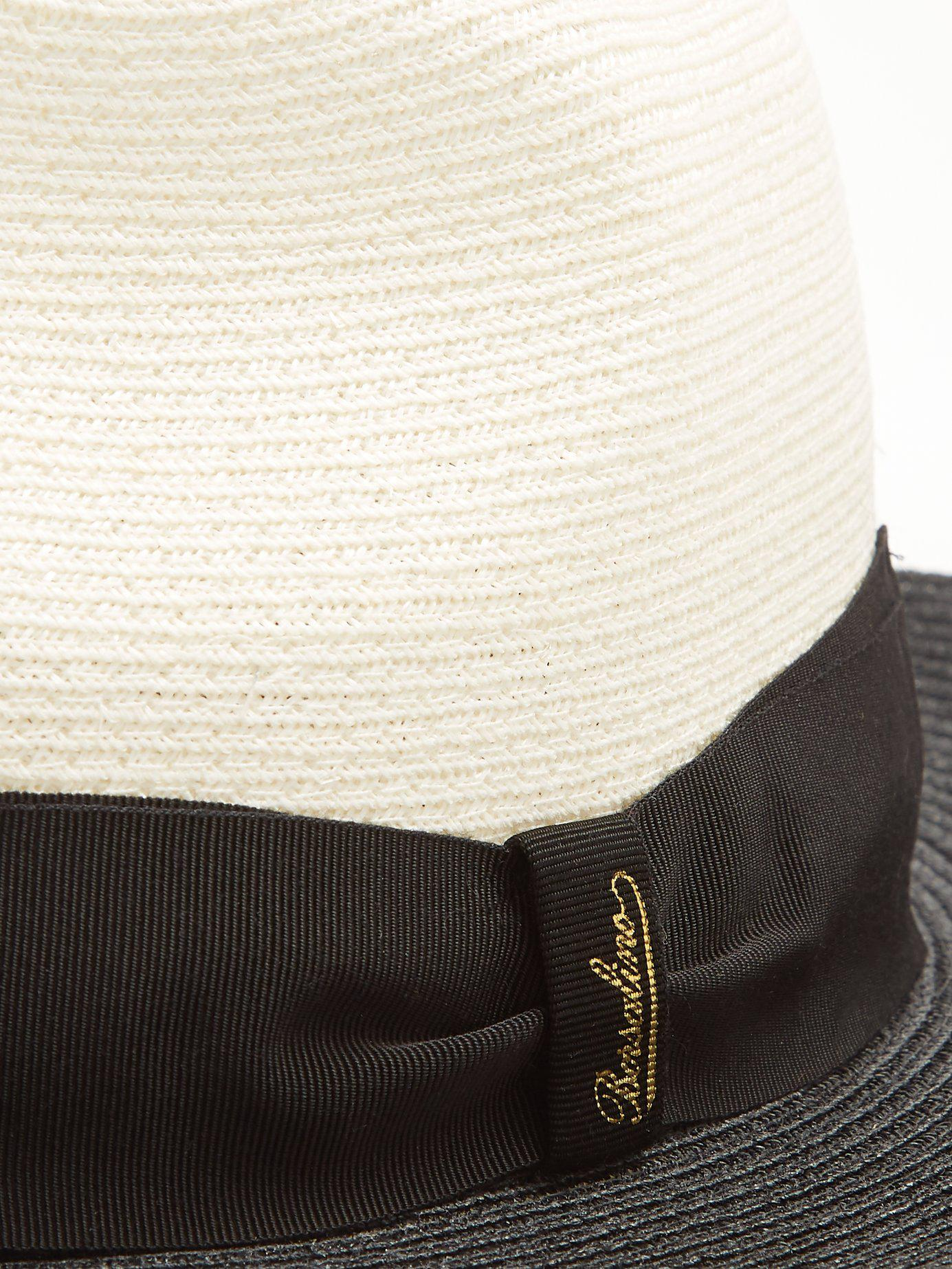 c16f72889b8 Borsalino - Multicolor Bi Colour Panama Hat for Men - Lyst. View fullscreen