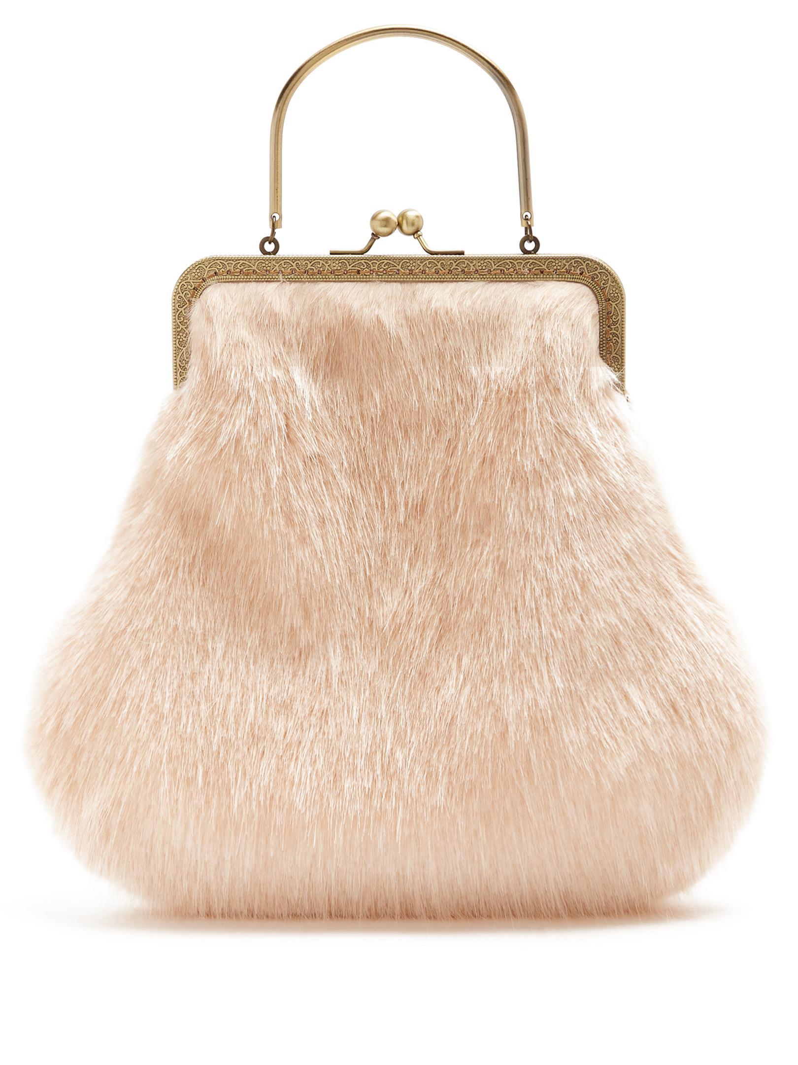 Shrimps Arthur Faux-fur Bag in Pink - Lyst 2dec1d9825c9a