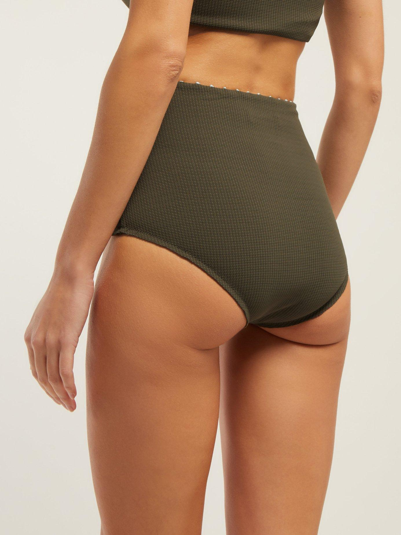 cae6bc3ff9 Marysia Swim Corsica High Rise Bikini Briefs in Green - Lyst